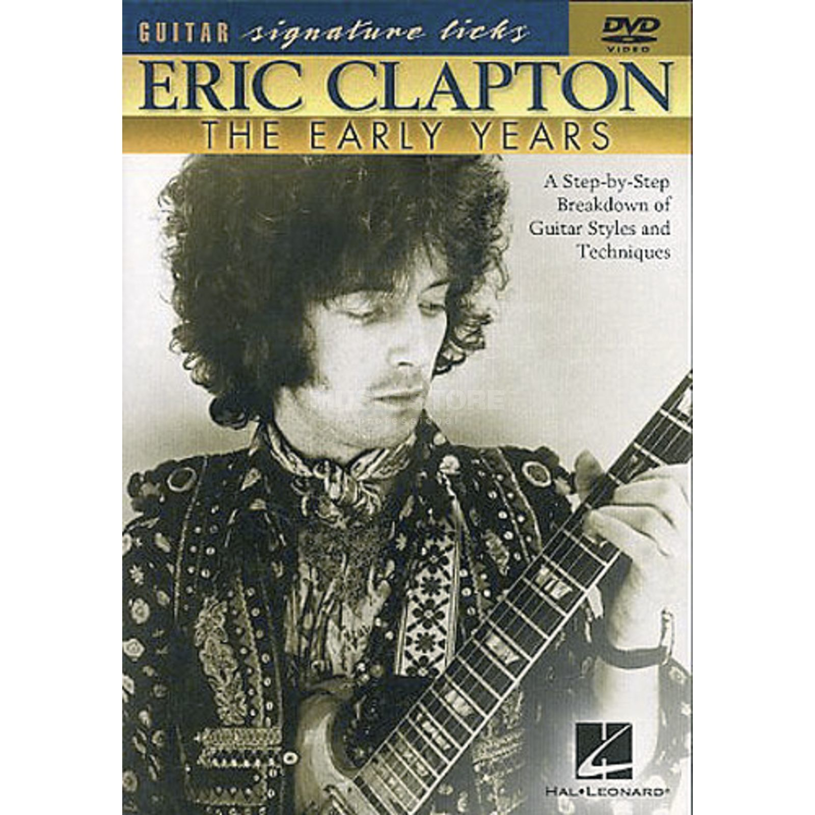 Hal Leonard Eric Clapton - Early Years Guitar Signature Licks, DVD Produktbillede