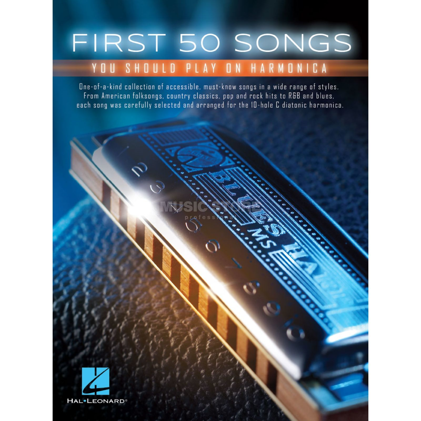 Hal Leonard First 50 Songs You Should Play On Harmonica Productafbeelding