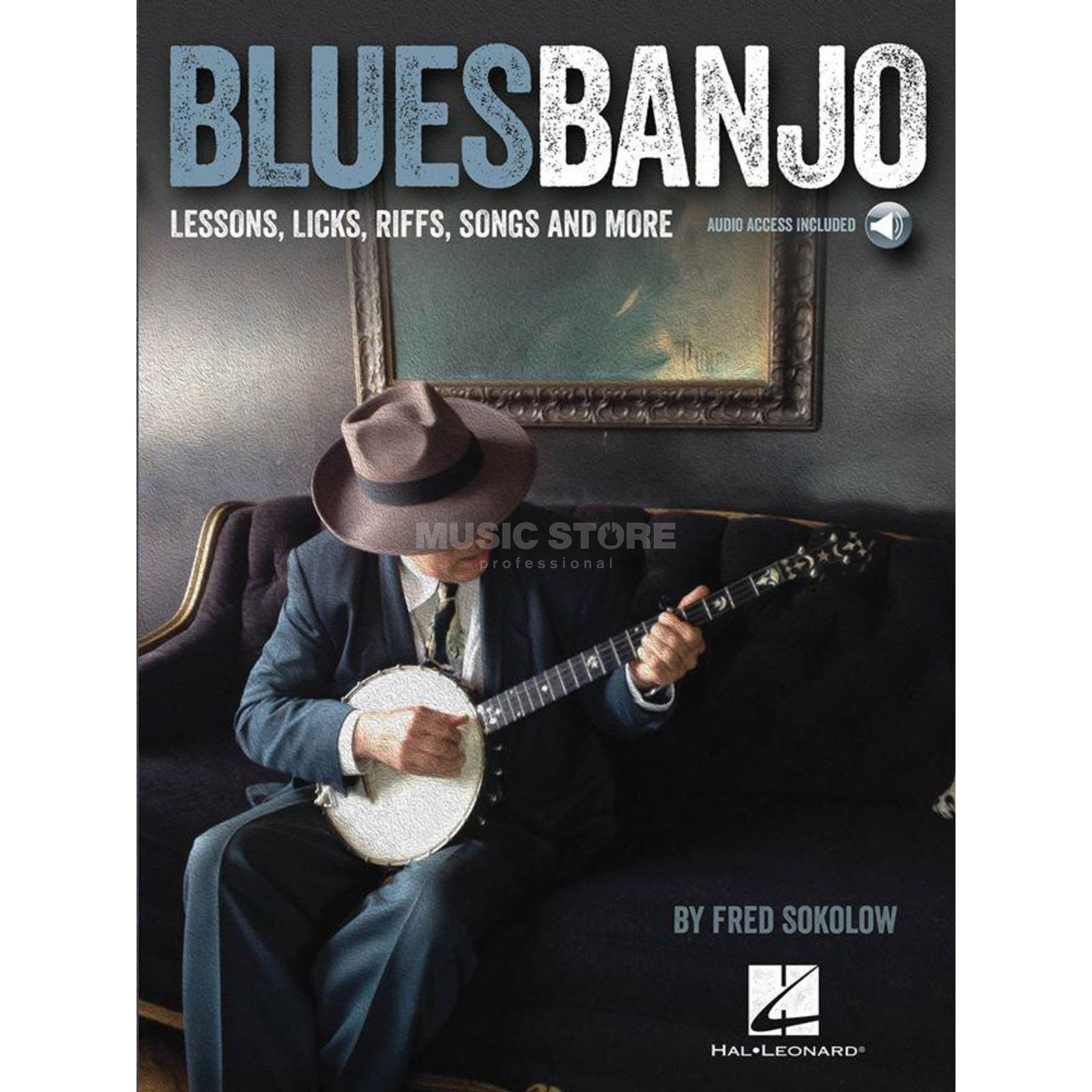 Hal Leonard Fred Sokolow: Blues Banjo Lessons - Licks, Riffs, Songs Produktbillede