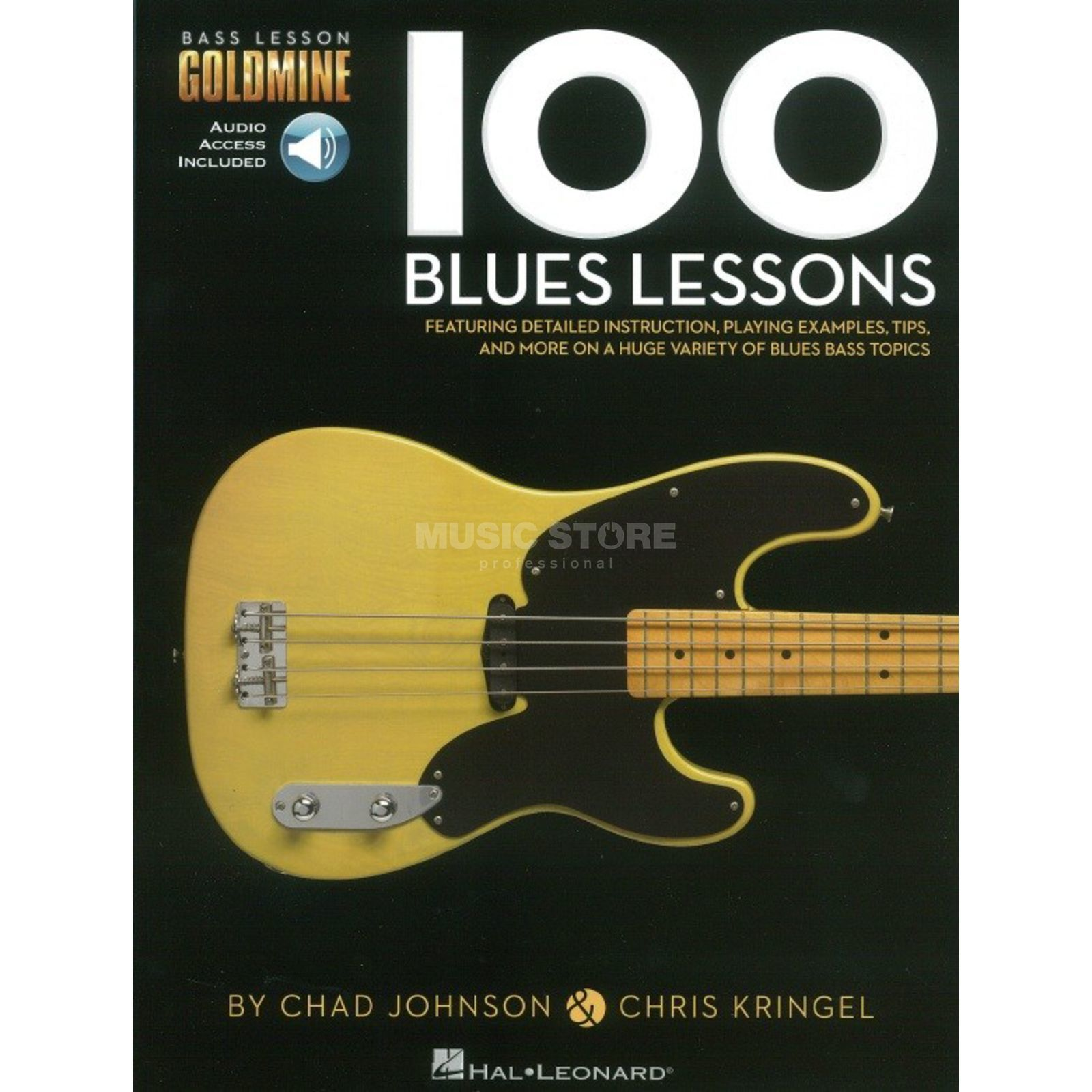 Hal Leonard Goldmine: 100 Blues Lessons Bass Produktbillede