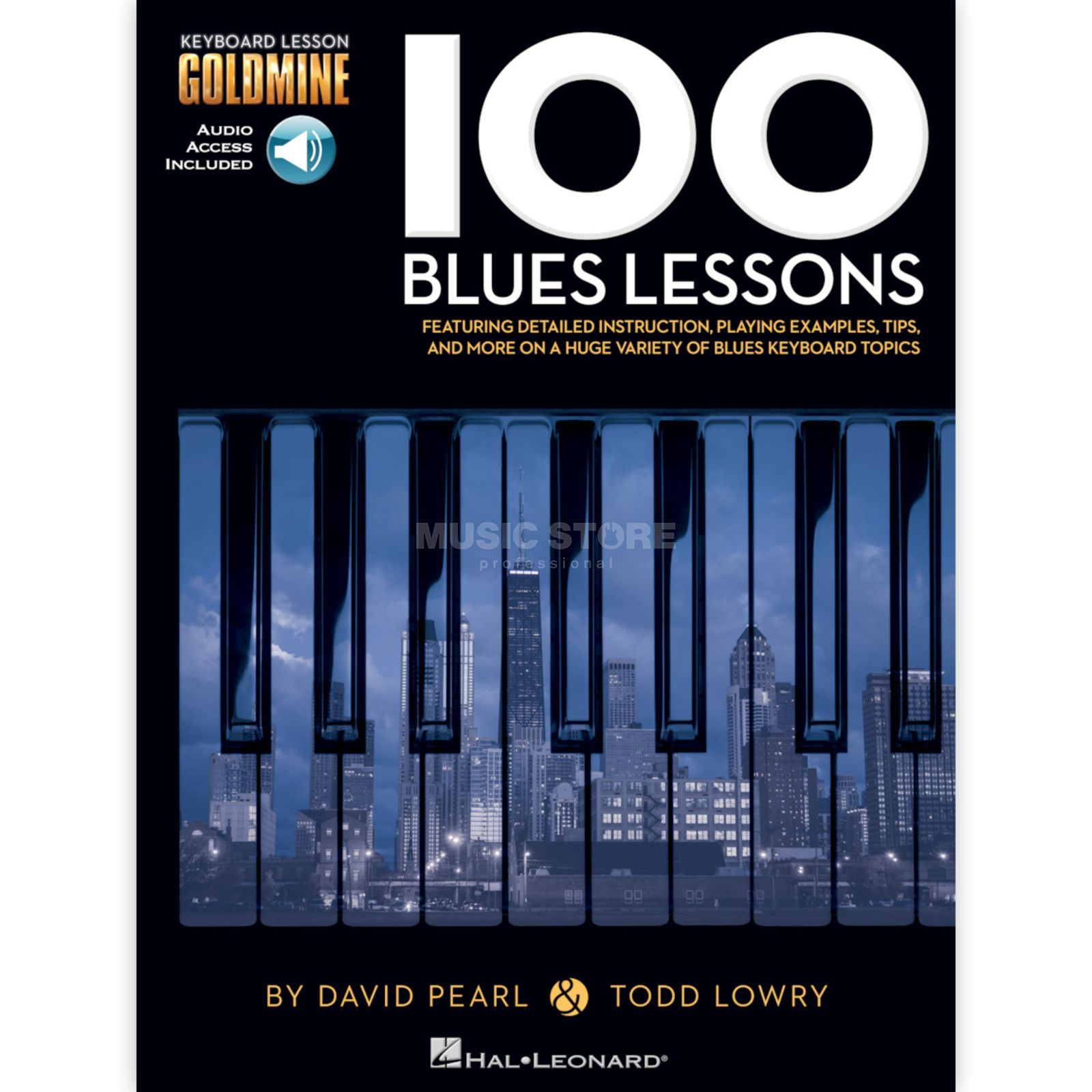 Hal Leonard Goldmine: 100 Blues Lessons Keyboard Produktbillede