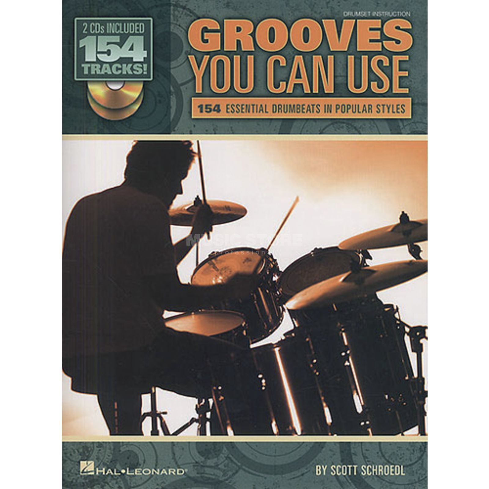Hal Leonard Grooves You Can Use (drums) Lehrbuch, 2 CDs Produktbild