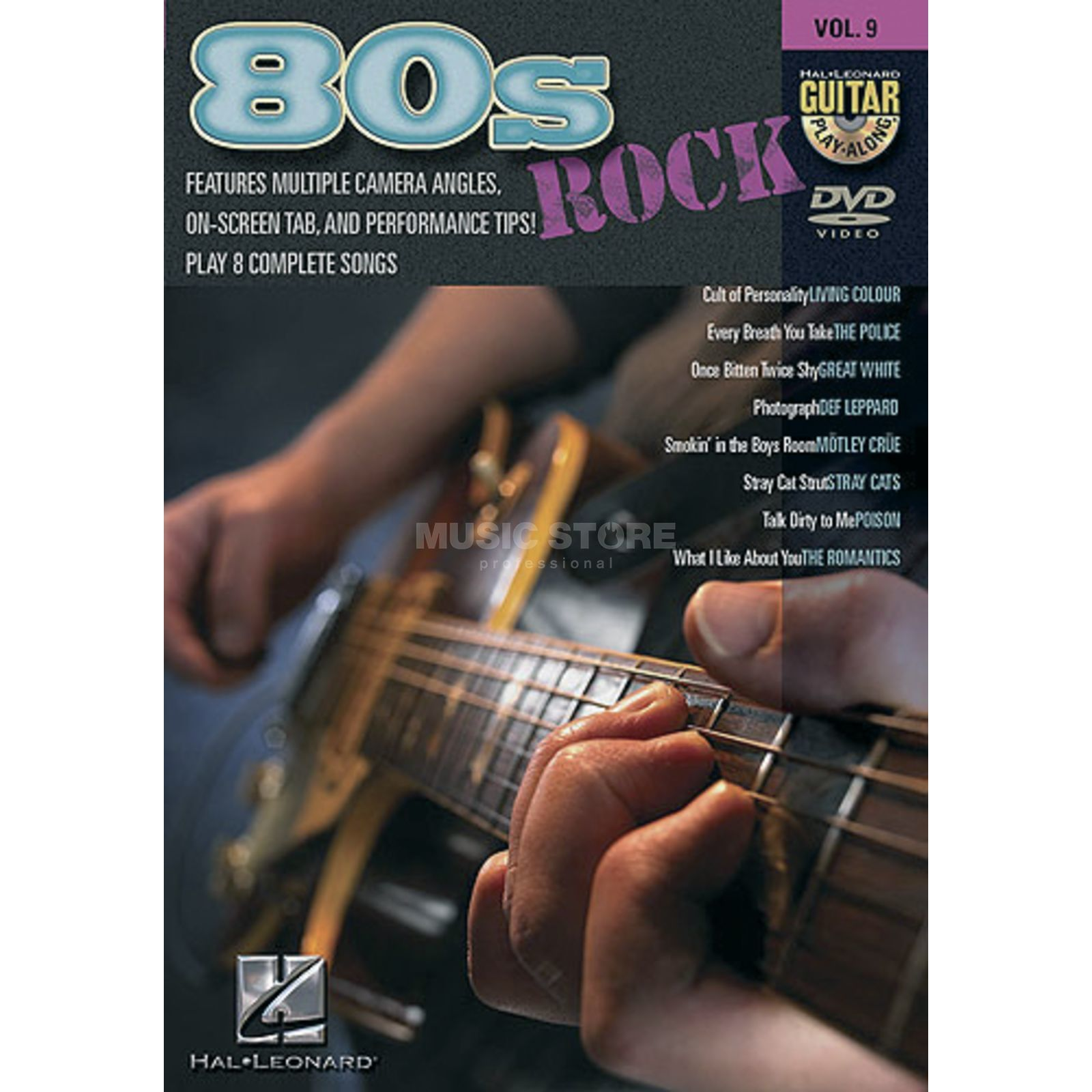 Hal Leonard Guitar Play-Along: 80s Rock Vol. 9, DVD Produktbillede