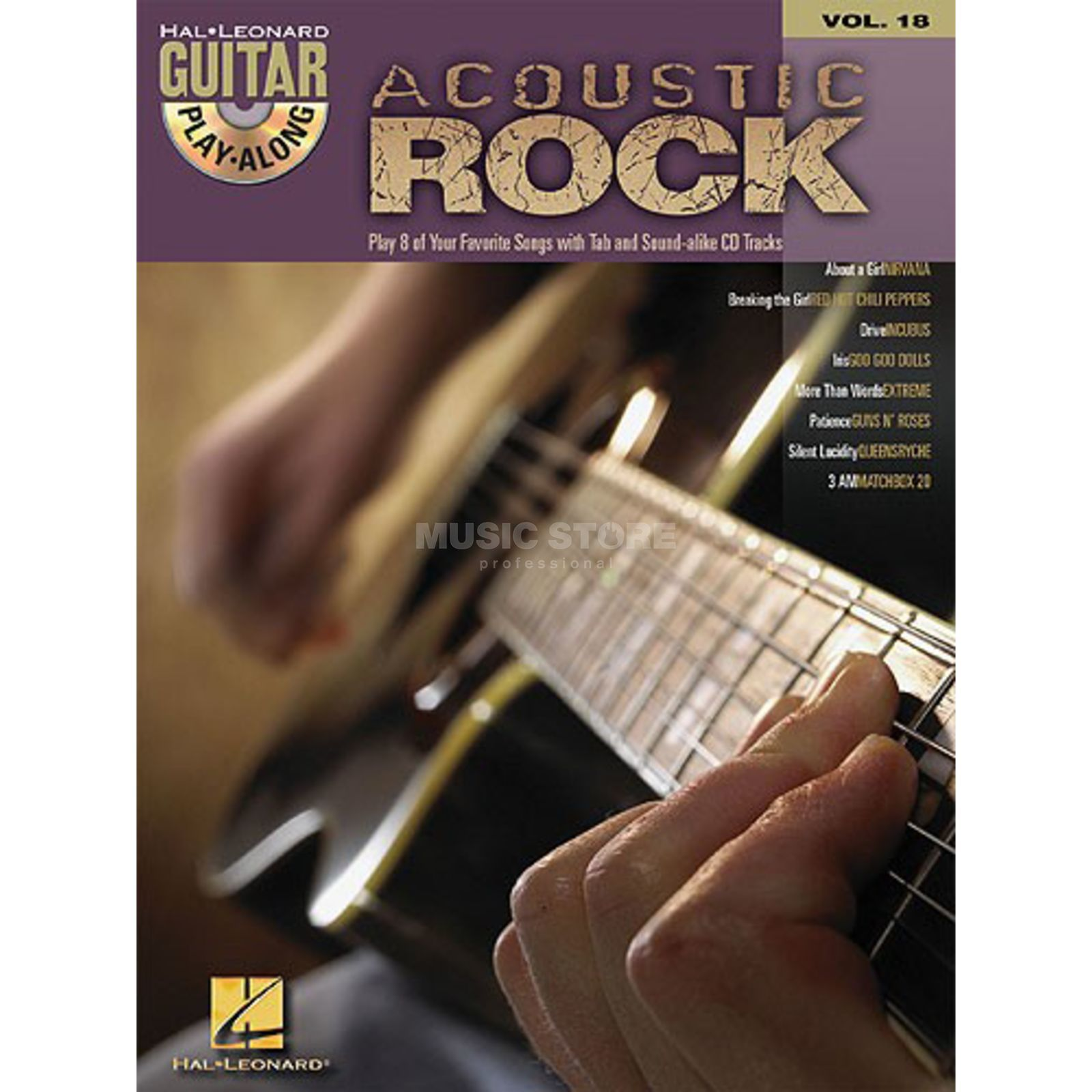 Hal Leonard Guitar Play-Along: Acoustic Rock Vol. 18, TAB und CD Produktbild