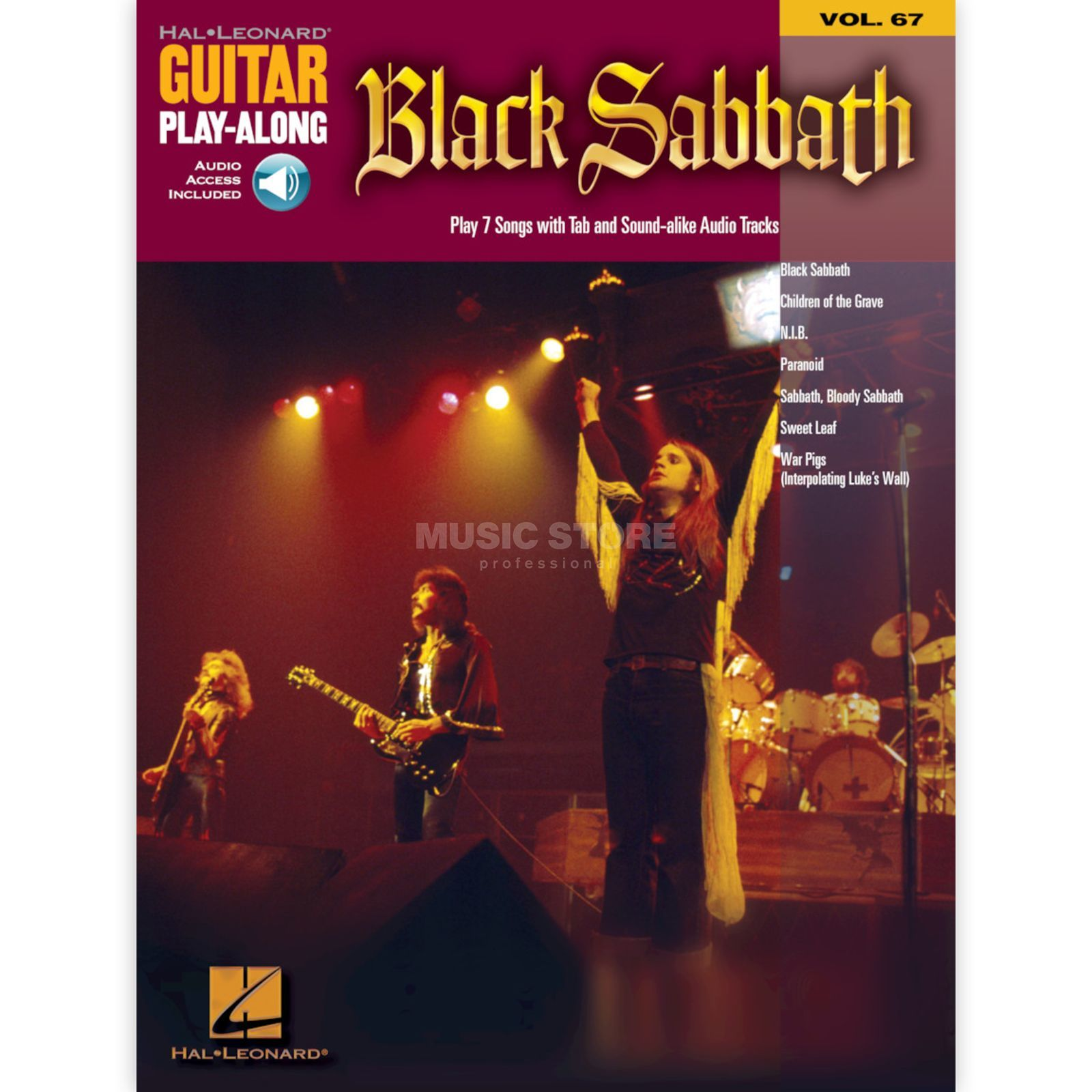 Hal Leonard Guitar Play Along - Black Sabb Book and CD Produktbillede