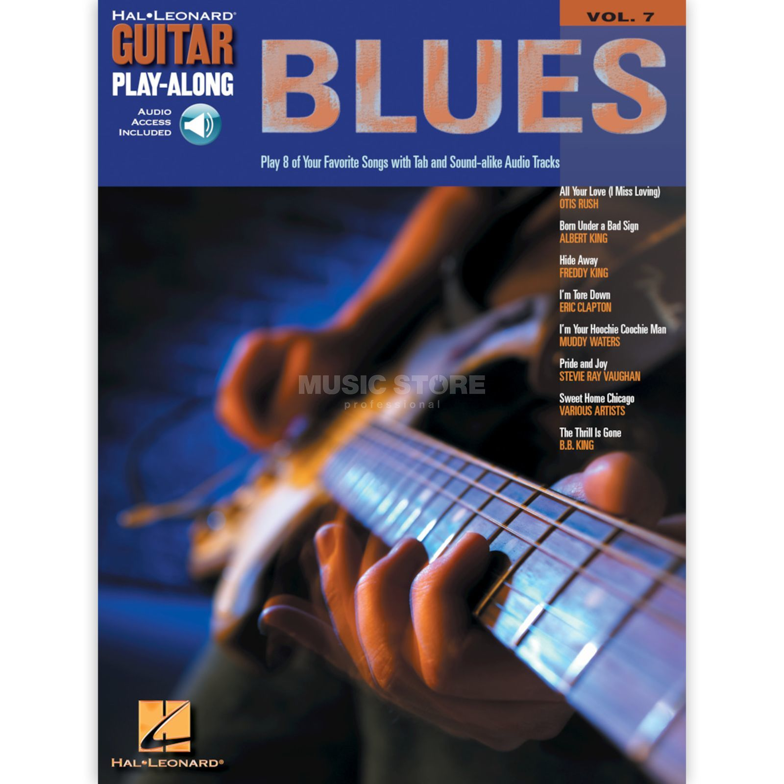 Hal Leonard Guitar play along - Blues Book and CD Produktbillede