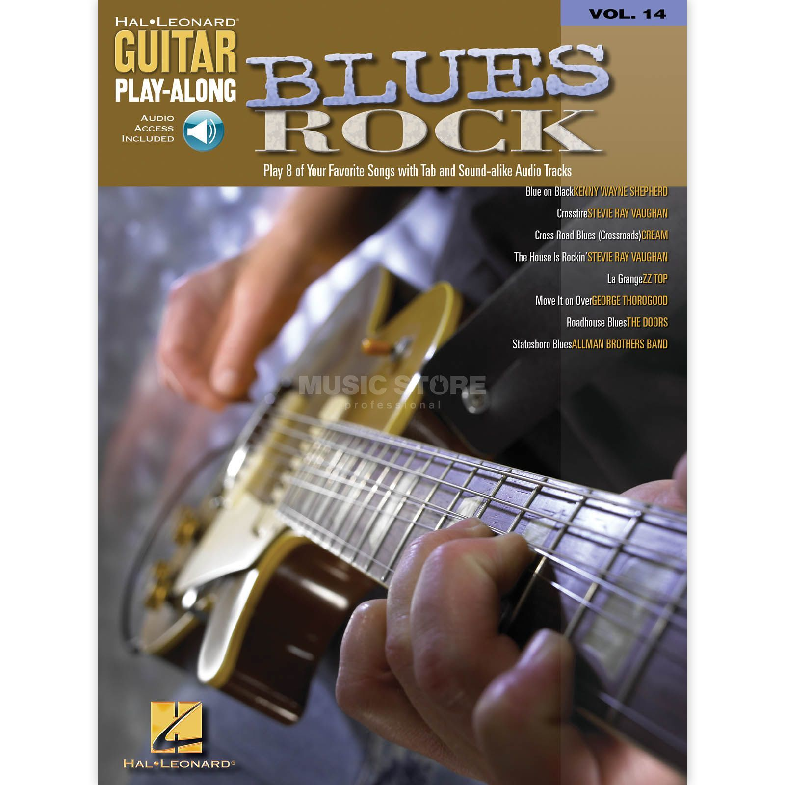 Hal Leonard Guitar play along - Blues Rock Book and CD Produktbillede