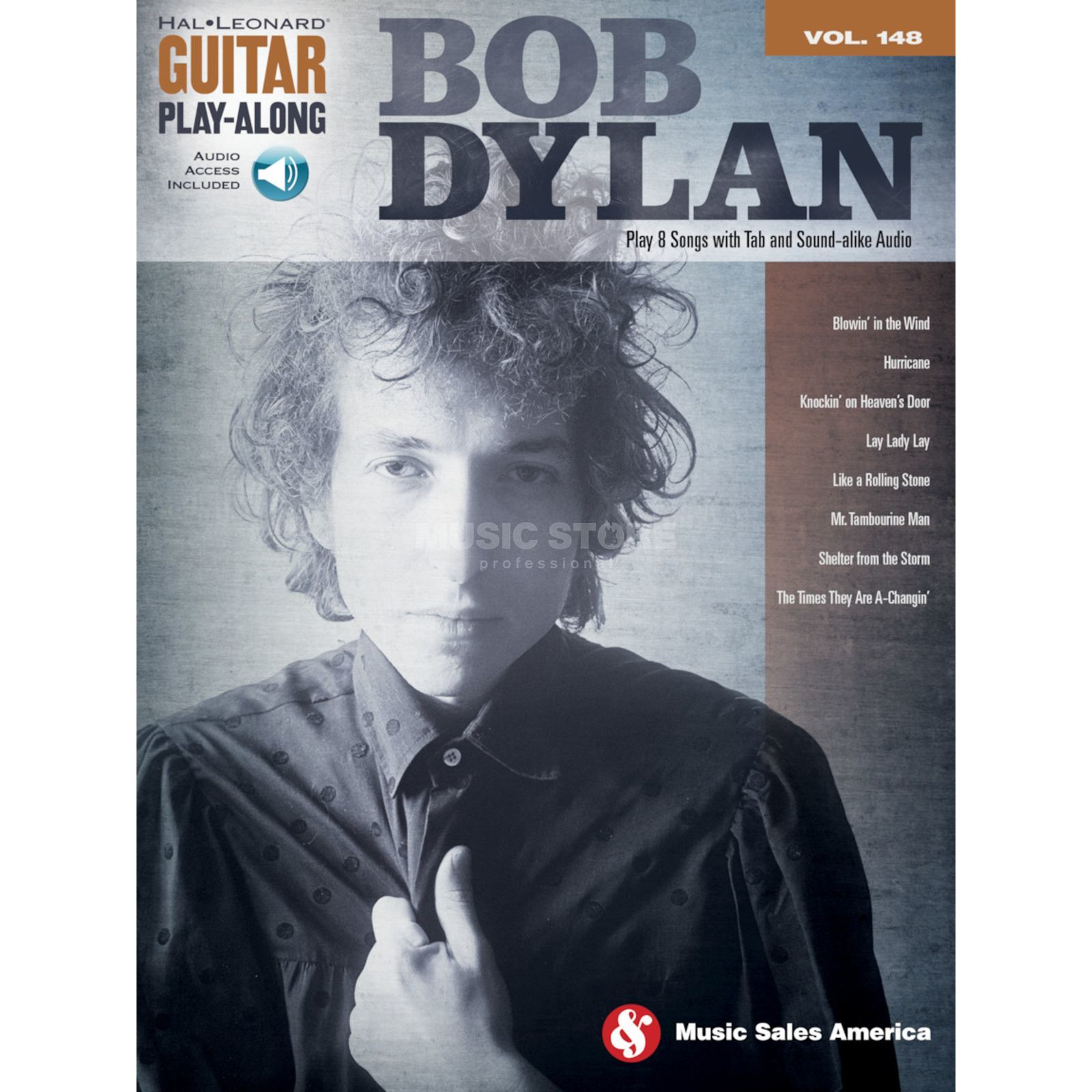 Hal Leonard Guitar Play-Along: Bob Dylan Vol. 148, TAB und CD Produktbillede