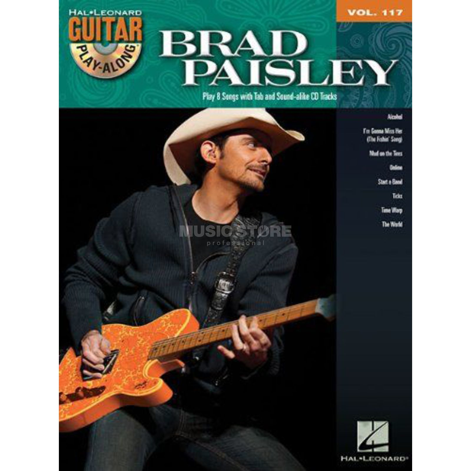 Hal Leonard Guitar Play-Along: Brad Paisley Vol. 117, TAB und CD Produktbild
