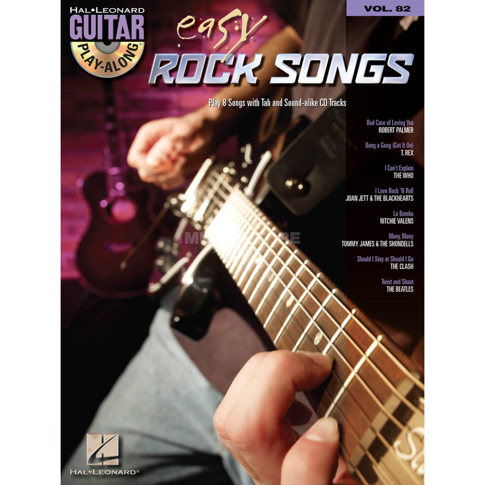 Hal Leonard Guitar Play-Along: Easy Rock Vol. 82, TAB und CD Produktbillede