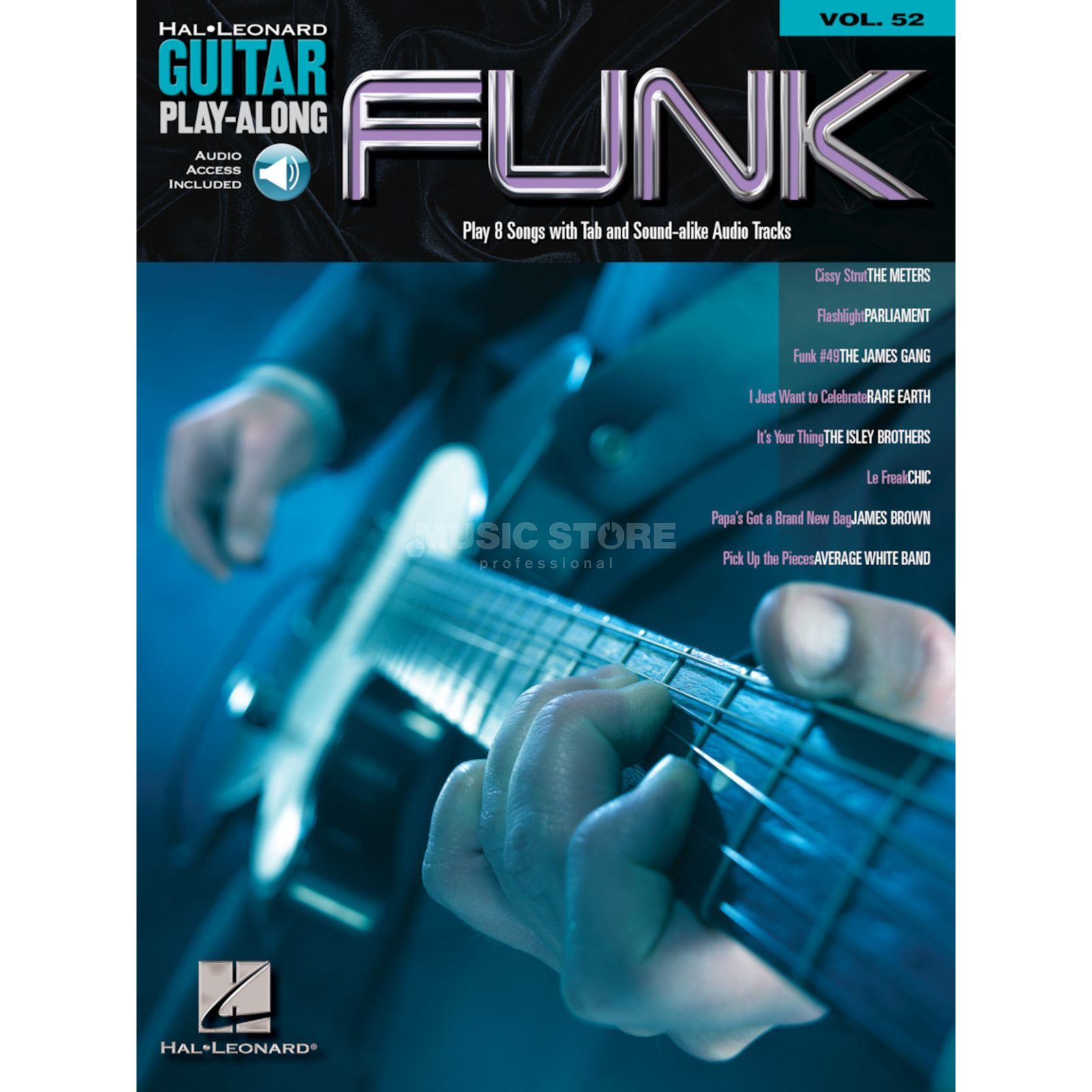 Hal Leonard Guitar Play-Along: Funk Vol. 142, TAB und CD Produktbillede