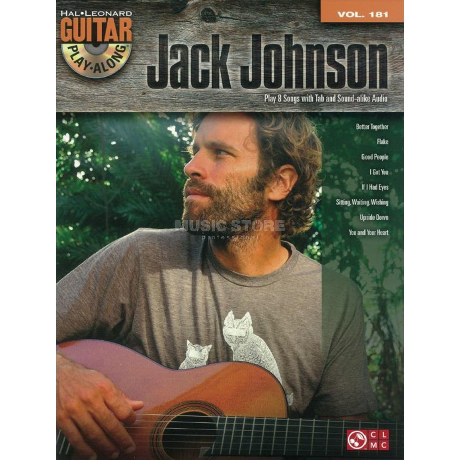 Hal Leonard Guitar Play-Along: Jack Johnson Vol. 181, TAB und CD Produktbillede