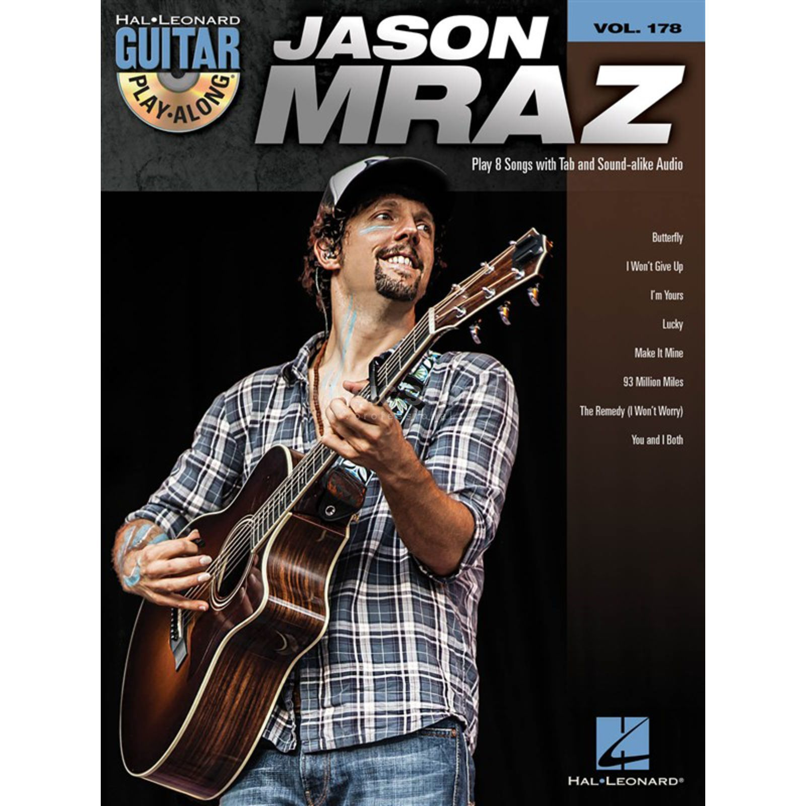 Hal Leonard Guitar Play-Along: Jason Mraz Vol. 178, TAB und CD Produktbillede