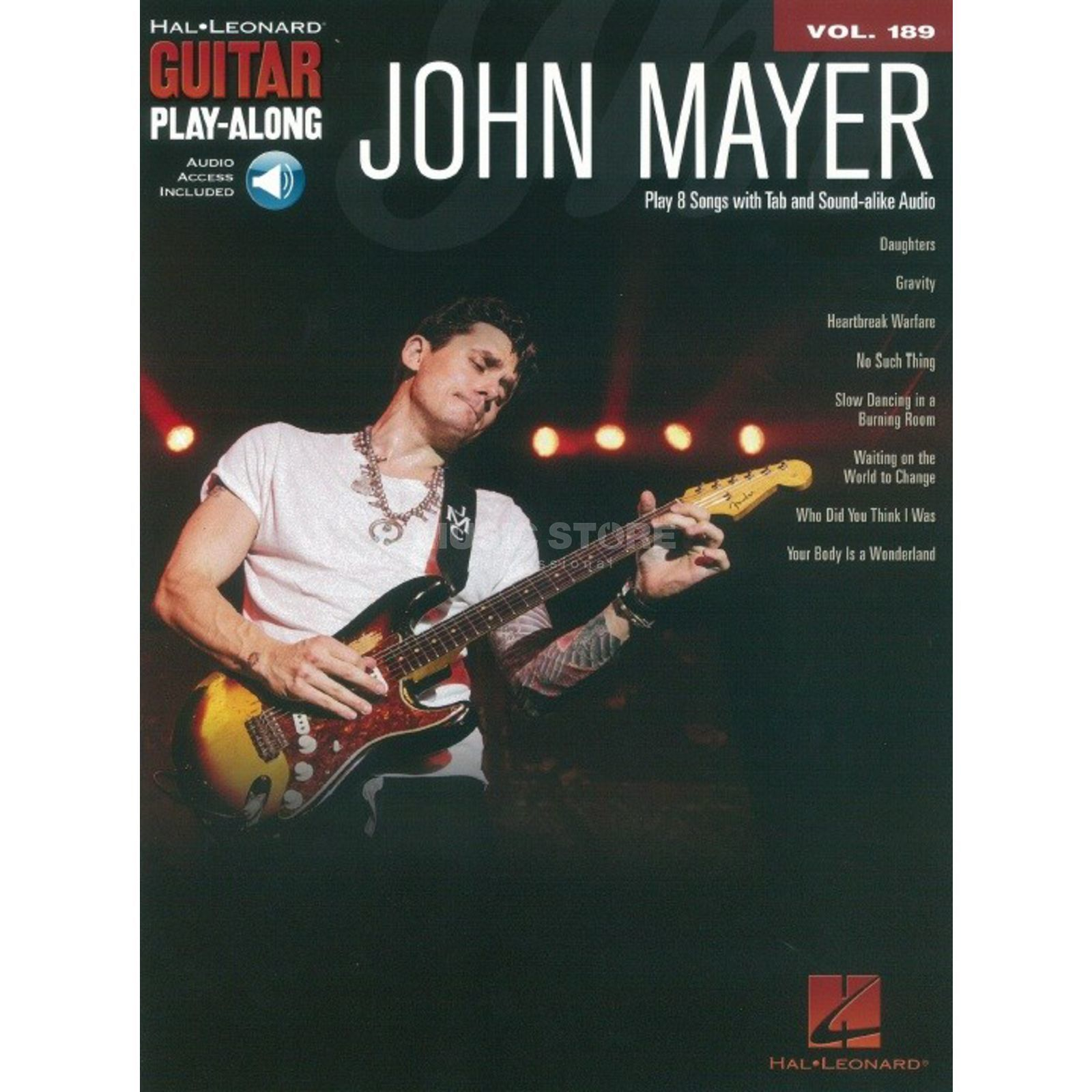 Hal Leonard Guitar Play-Along: John Mayer Vol. 189, TAB und Download Εικόνα προιόντος