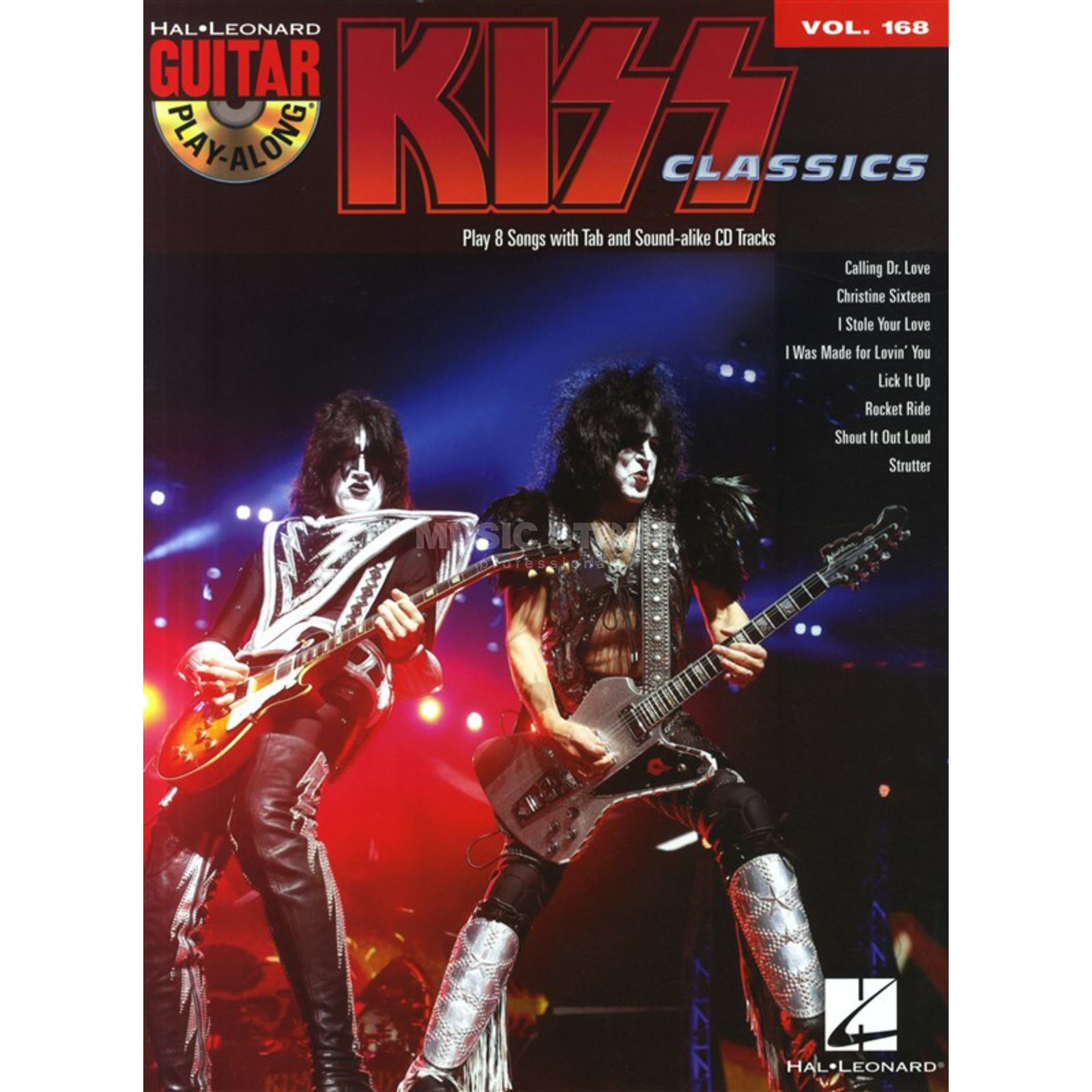 Hal Leonard Guitar Play-Along: Kiss Vol. 168, TAB und CD Produktbild