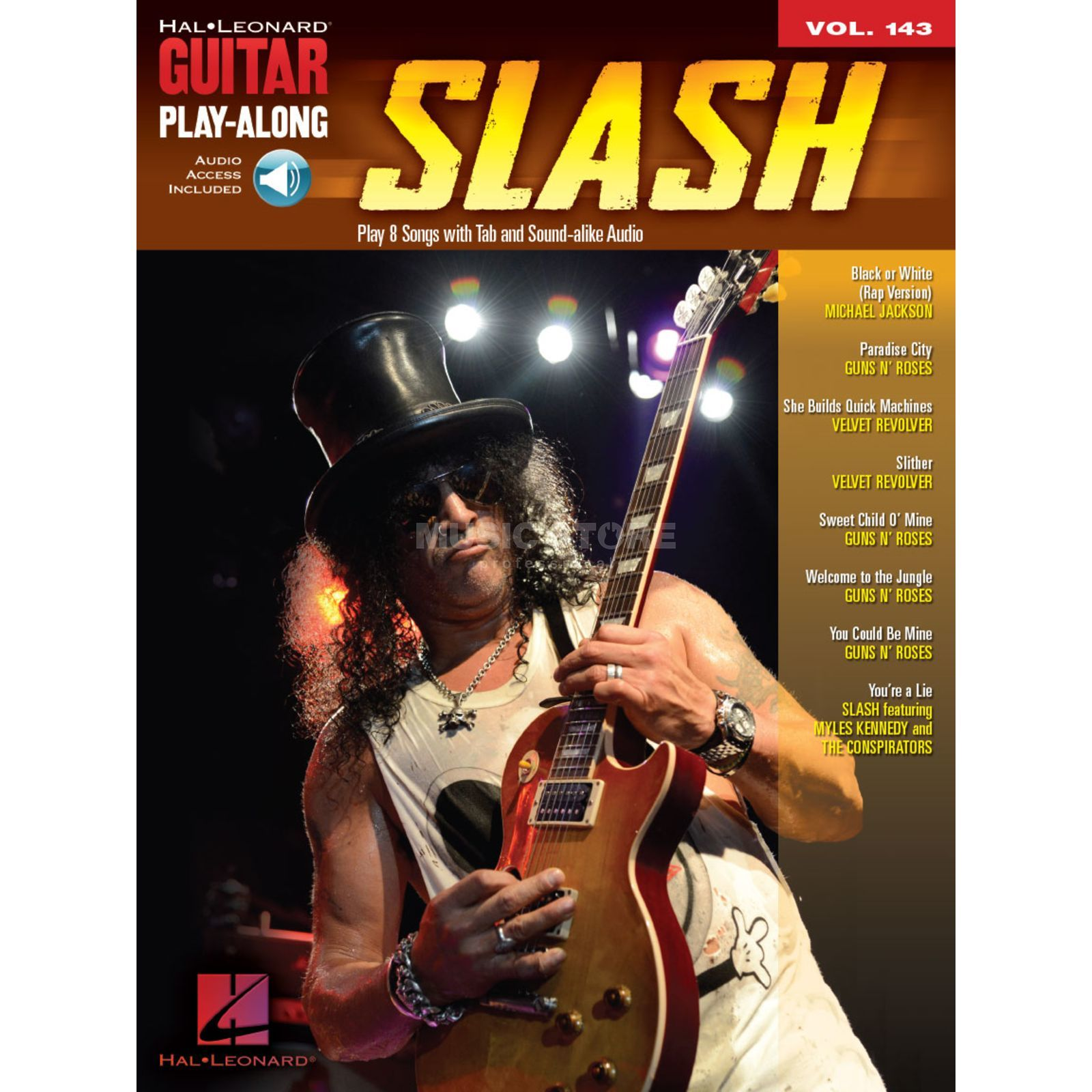 Hal Leonard Guitar Play-Along: Slash Vol. 143, TAB und Download Produktbillede