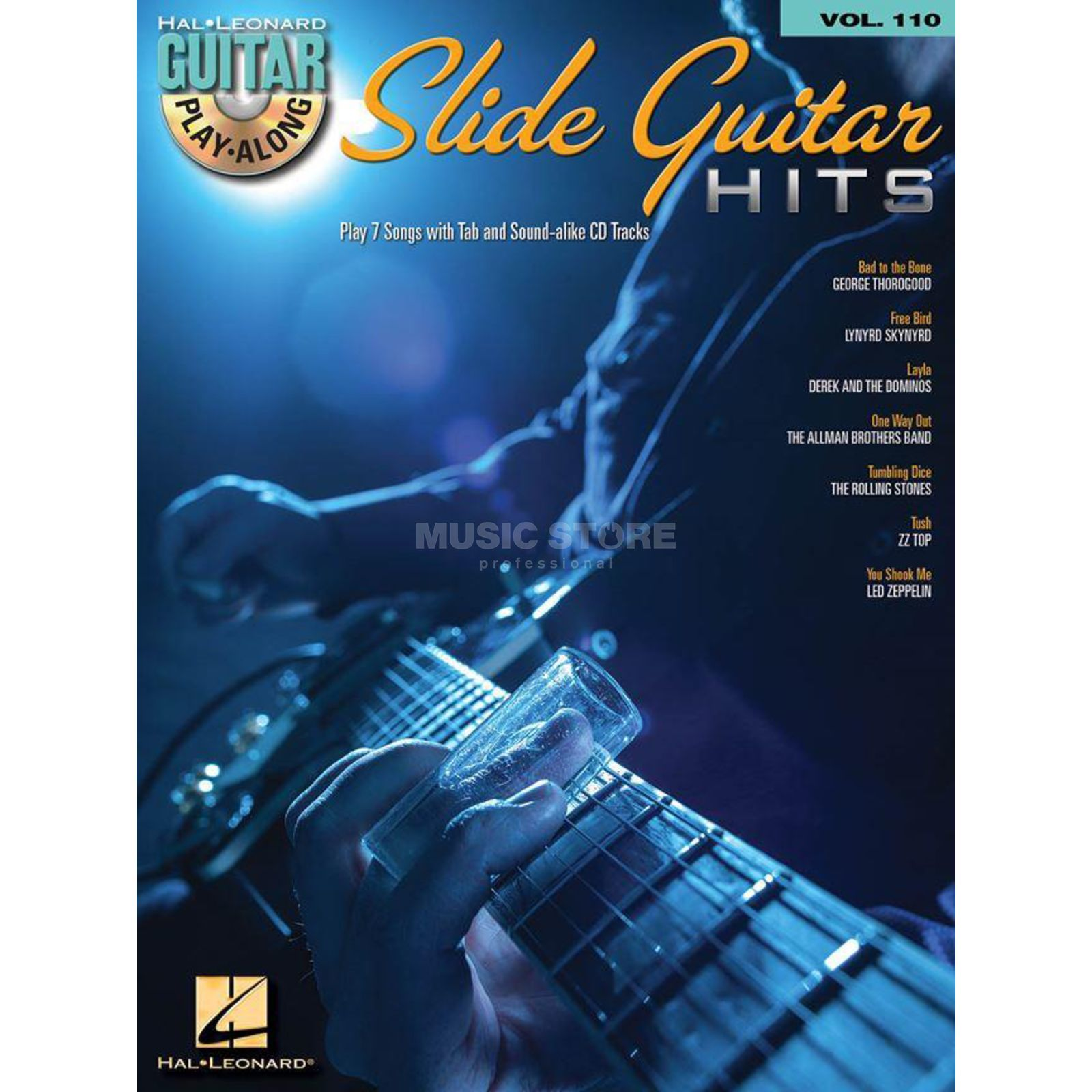 Hal Leonard Guitar Play-Along: Slide Guitar Hits Vol. 110, TAB und CD Produktbild