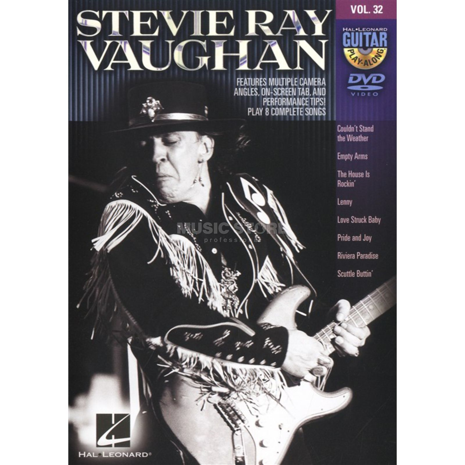 Hal Leonard Guitar Play-Along: Stevie Ray Vaughan Vol. 32, DVD Produktbillede