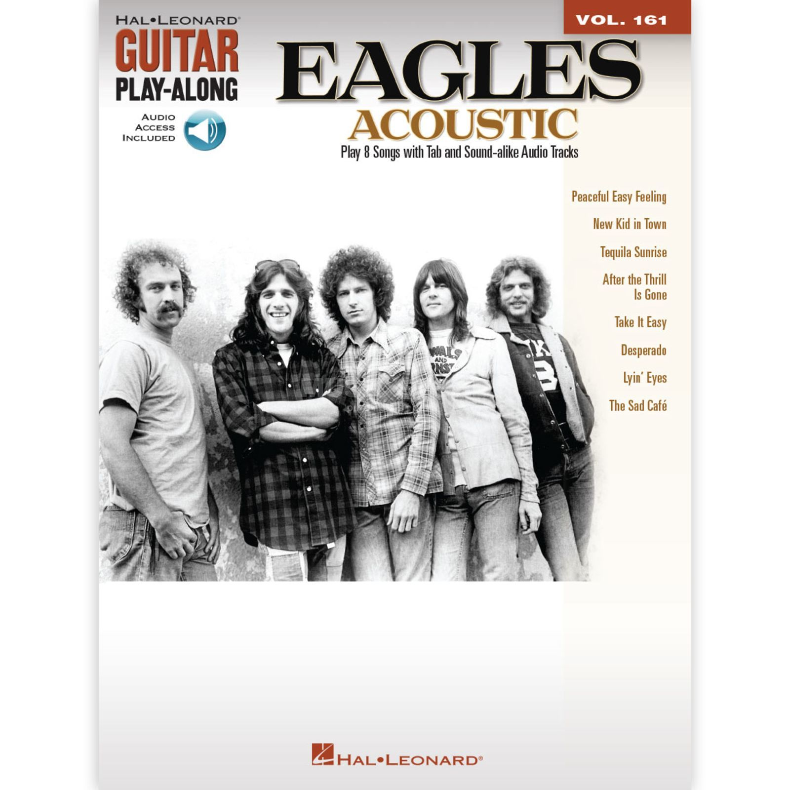 Hal Leonard Guitar Play-Along: The Eagles Acoustic Vol. 161, TAB und CD Produktbild