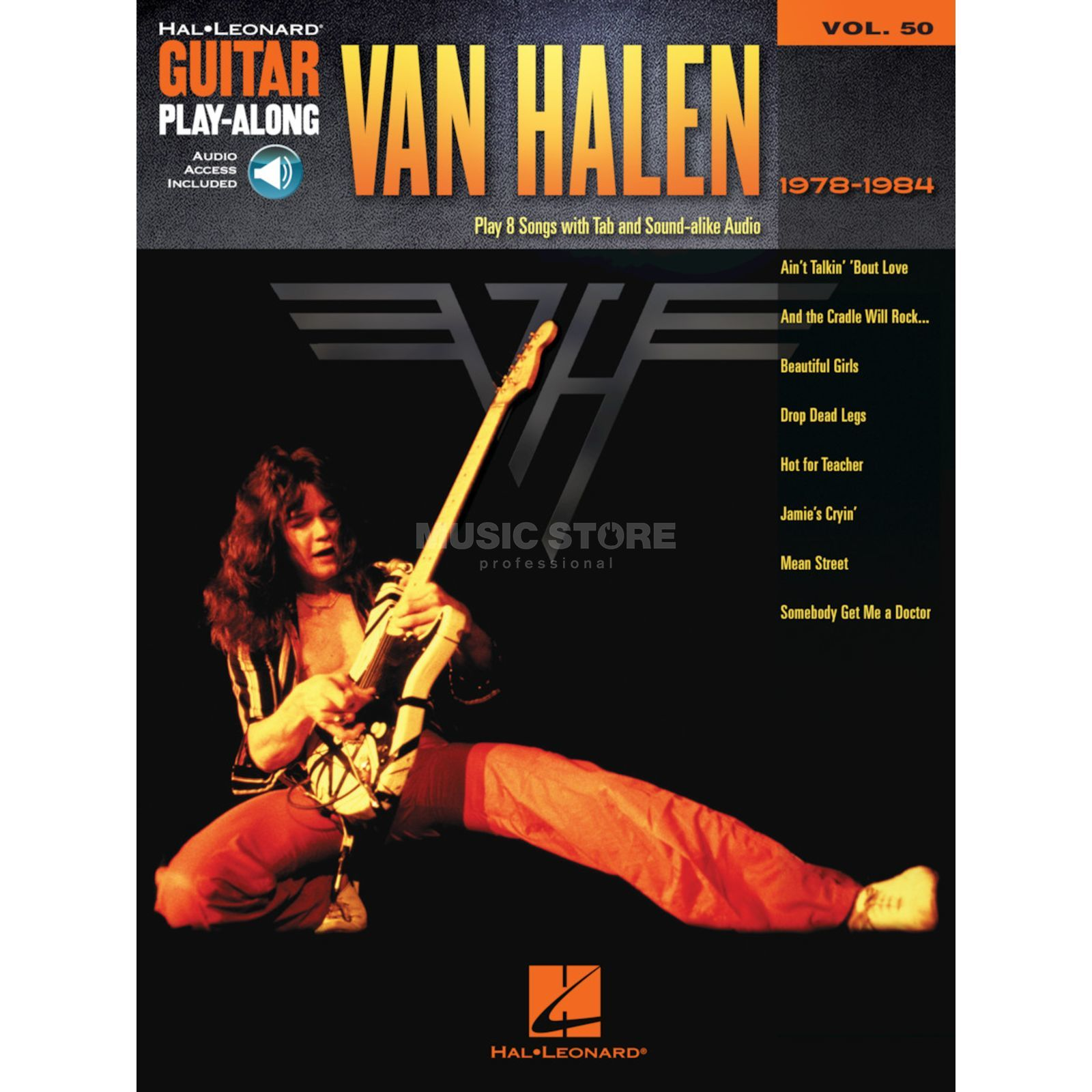 Hal Leonard Guitar Play-Along: Van Halen 1978-1984 Vol. 50, TAB und CD Produktbillede