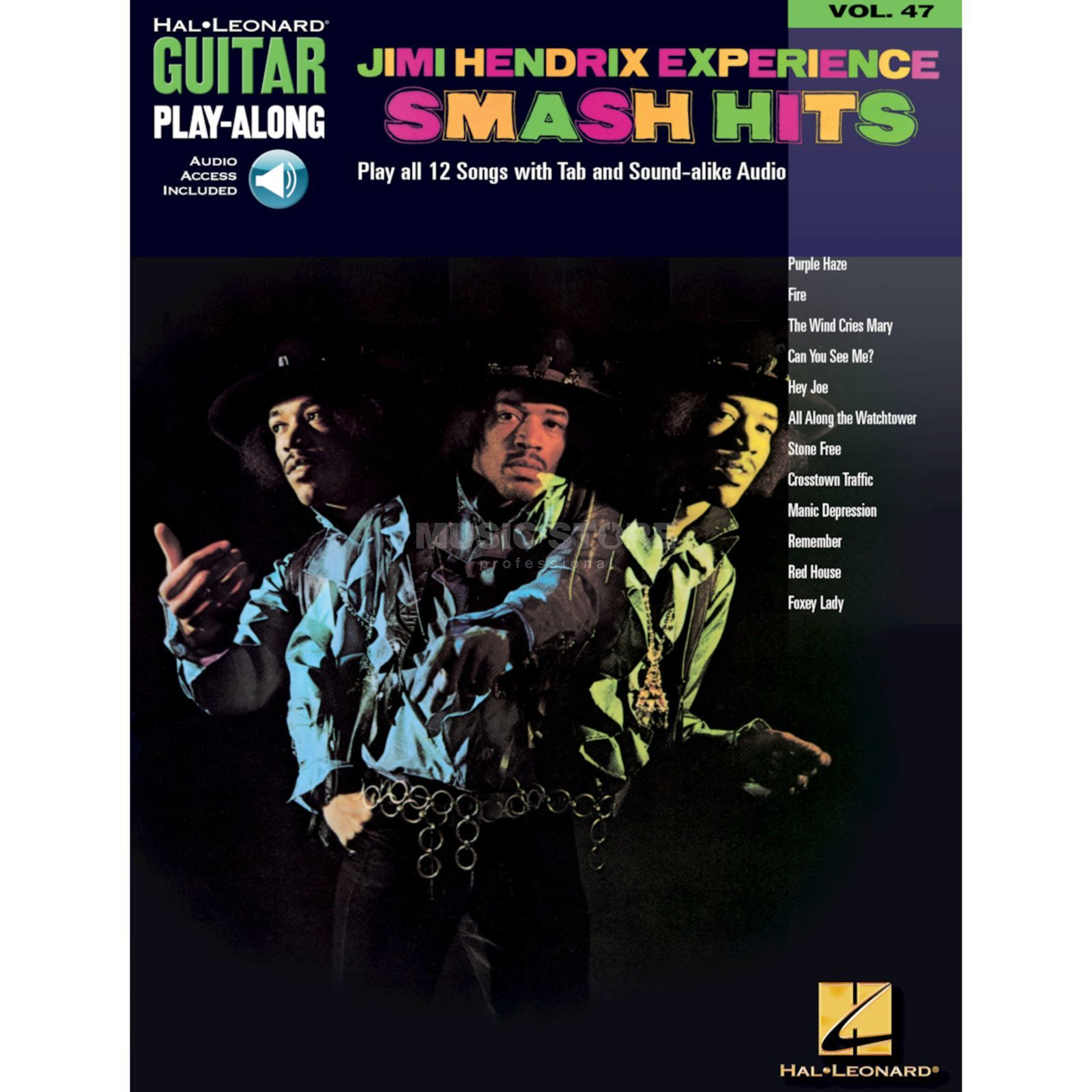 Hal Leonard Hendrix Experience Smash Hits Guitar Palyalong, Book and CD Produktbillede