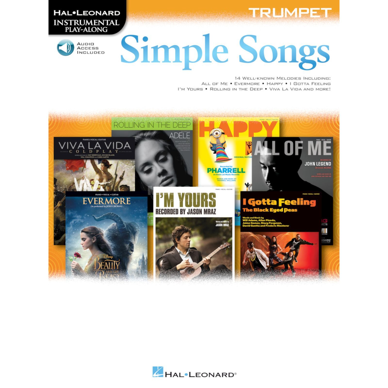 Hal Leonard Instrumental Play-Along: Simple Songs - Trumpet Image du produit