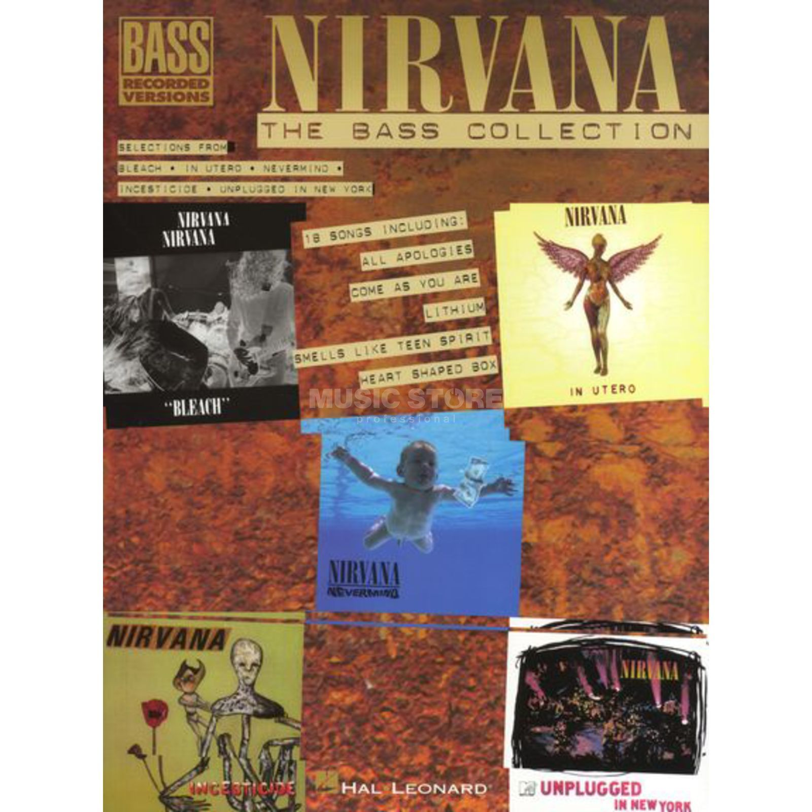 Hal Leonard Nirvana Bass Guitar Collection Bass Guitar Produktbillede