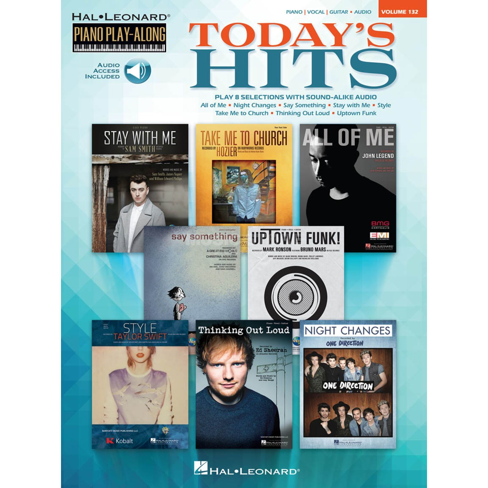 Hal Leonard Piano Play-Along Volume 132: Today's Hits Produktbillede