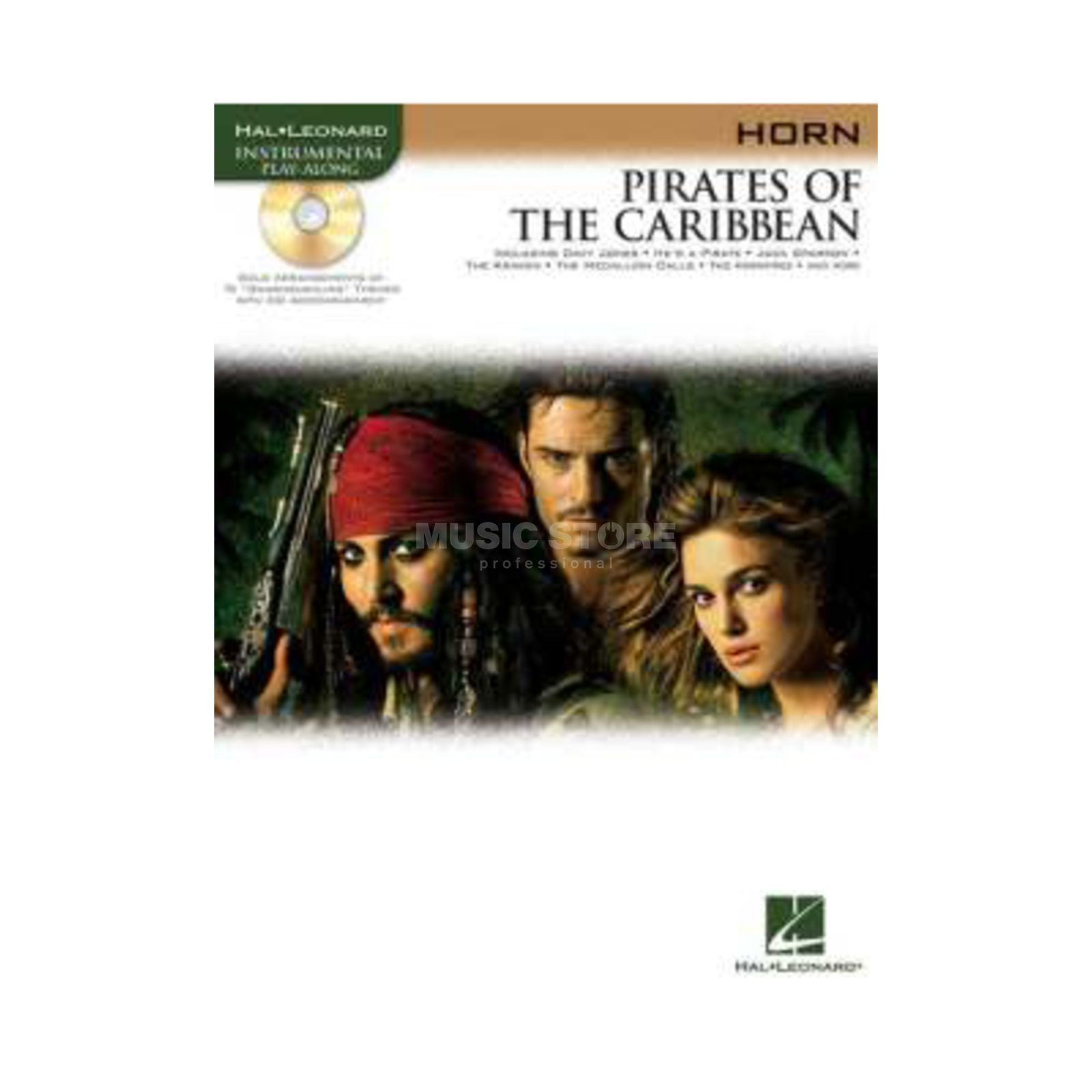 Hal Leonard Pirates Of The Caribbean Horn/CD, Leicht Produktbillede