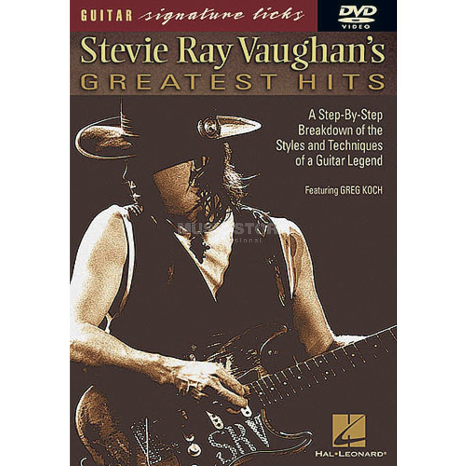 Hal Leonard S. R. Vaughan's Greatest Hits Guitar Signature Licks, DVD Produktbild