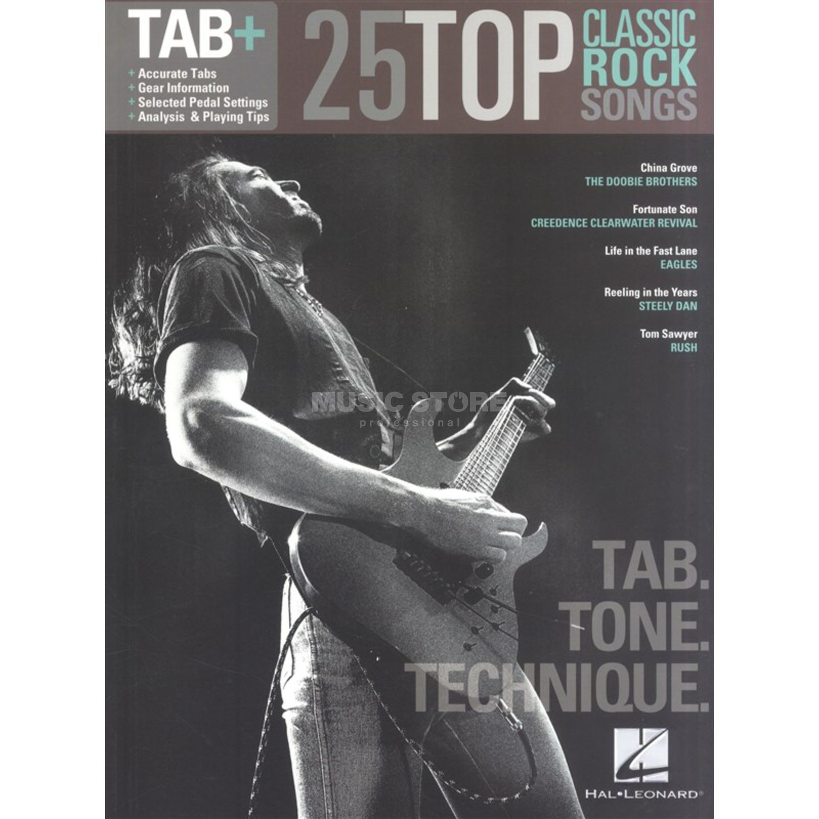 Hal Leonard Tab+: 25 Classic Rock Songs - Tab. Tone. Technique. Produktbild
