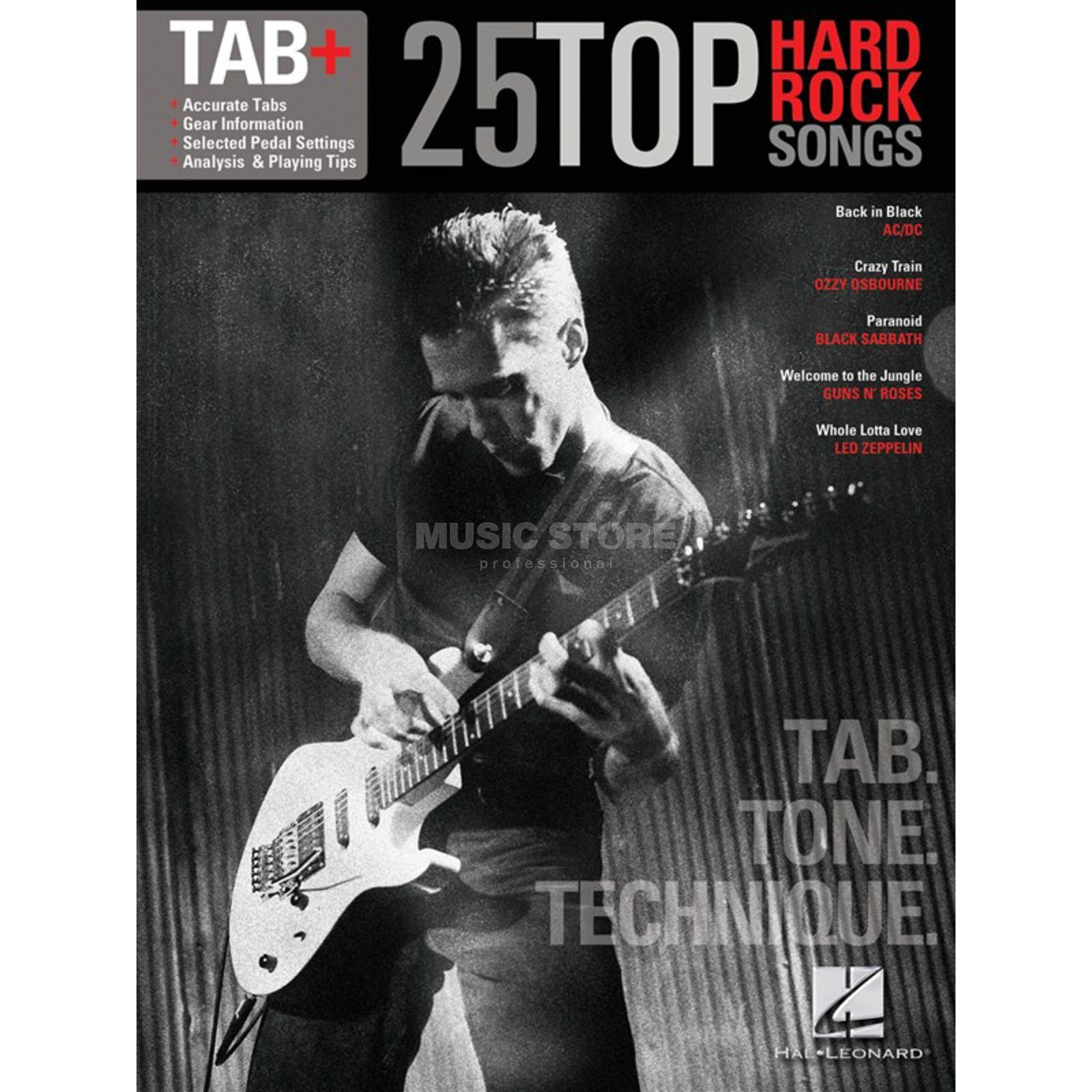 Hal Leonard Tab+: 25 Top Hard Rock Songs Tab. Tone. Technique Produktbild