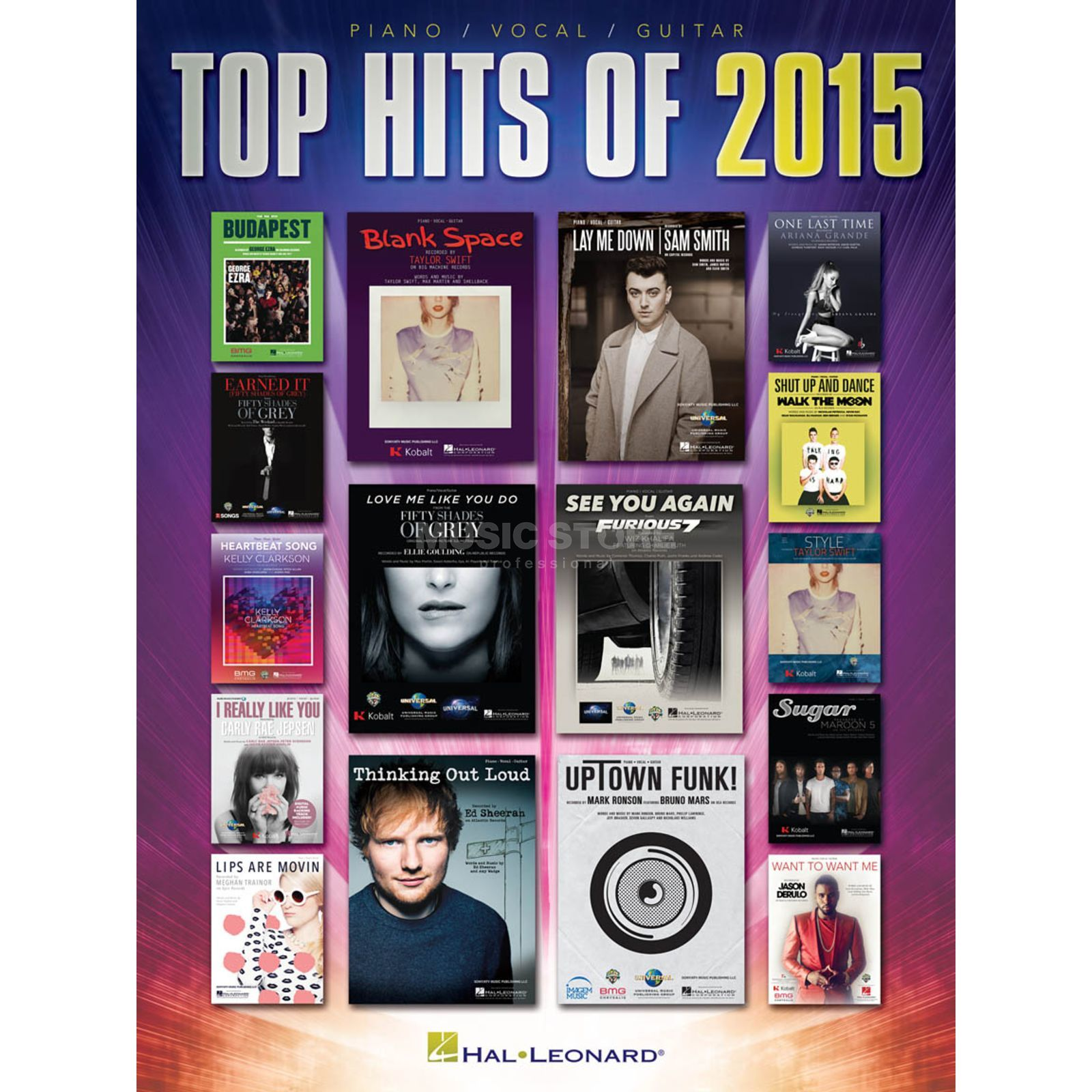 Hal Leonard Top Hits Of 2015 PVG Produktbild