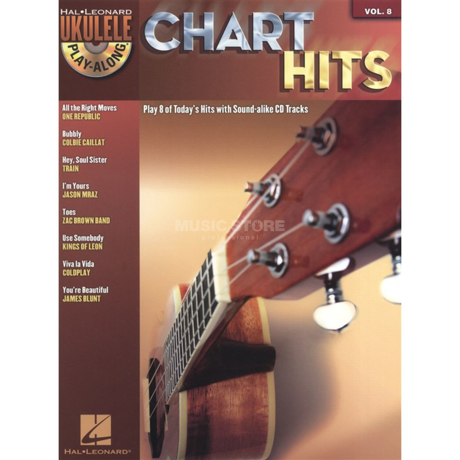 Hal Leonard Ukulele Play-Along: Chart Hits Vol. 8, Ukulele incl. CD Product Image
