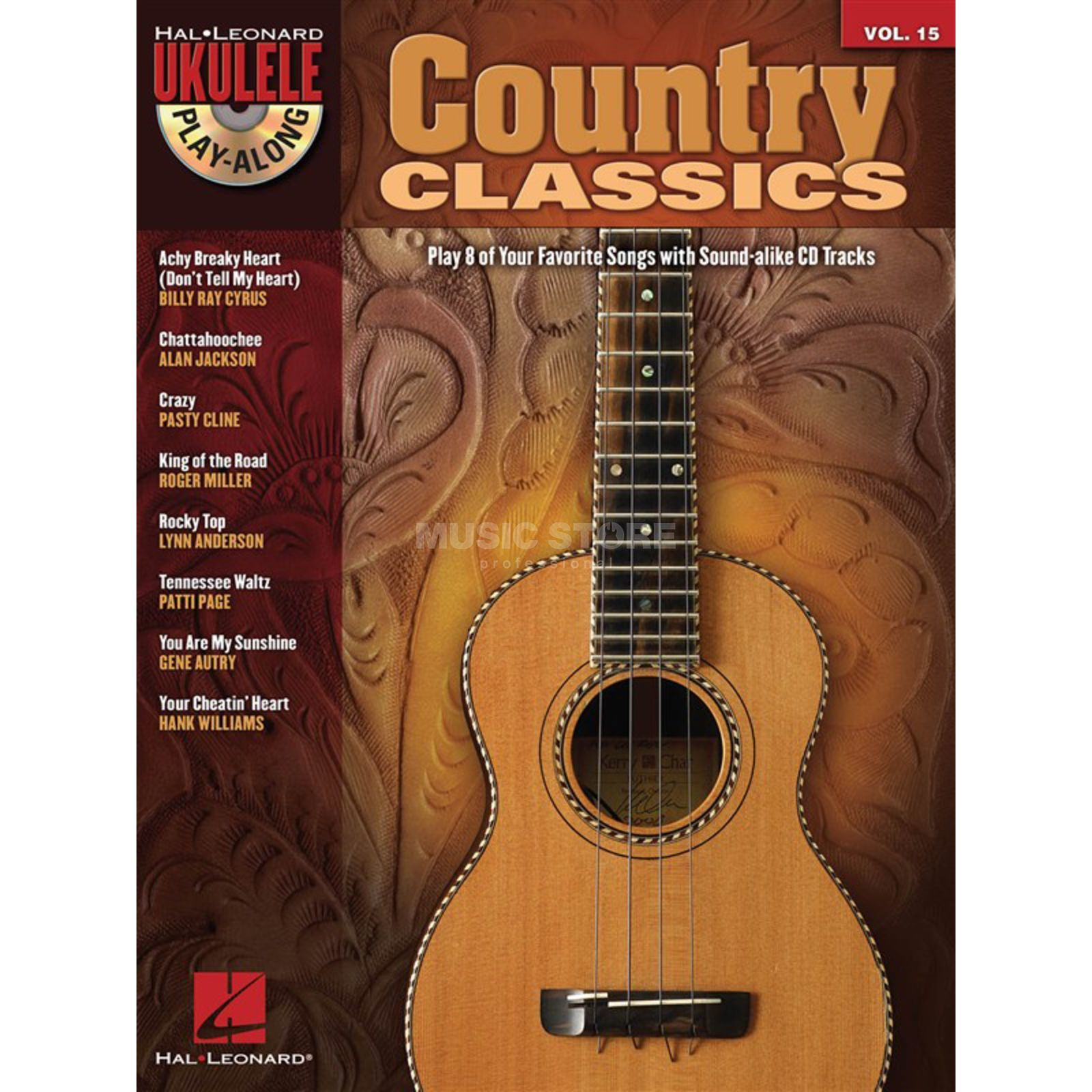 Hal Leonard Ukulele Play-Along: Country Vol. 15, Ukulele mit CD Produktbild