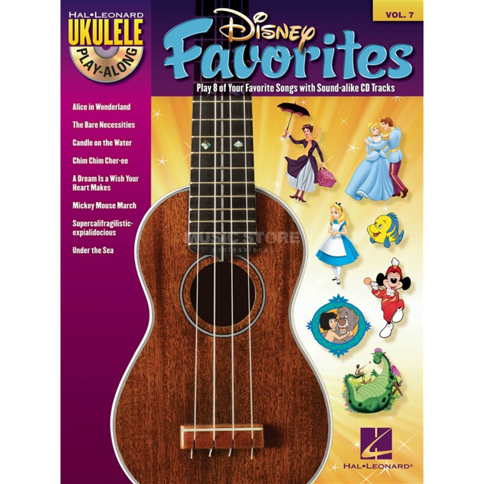 Hal Leonard Ukulele Play-Along: Disney Vol. 7, Ukulele incl. CD Produktbillede