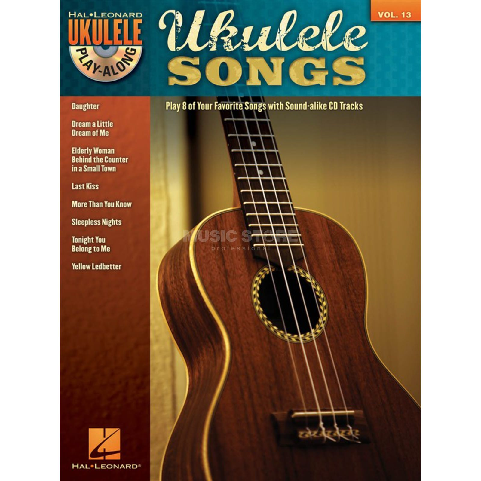 Hal Leonard Ukulele Play-Along: Songs Vol. 13, Ukulele incl. CD Produktbillede