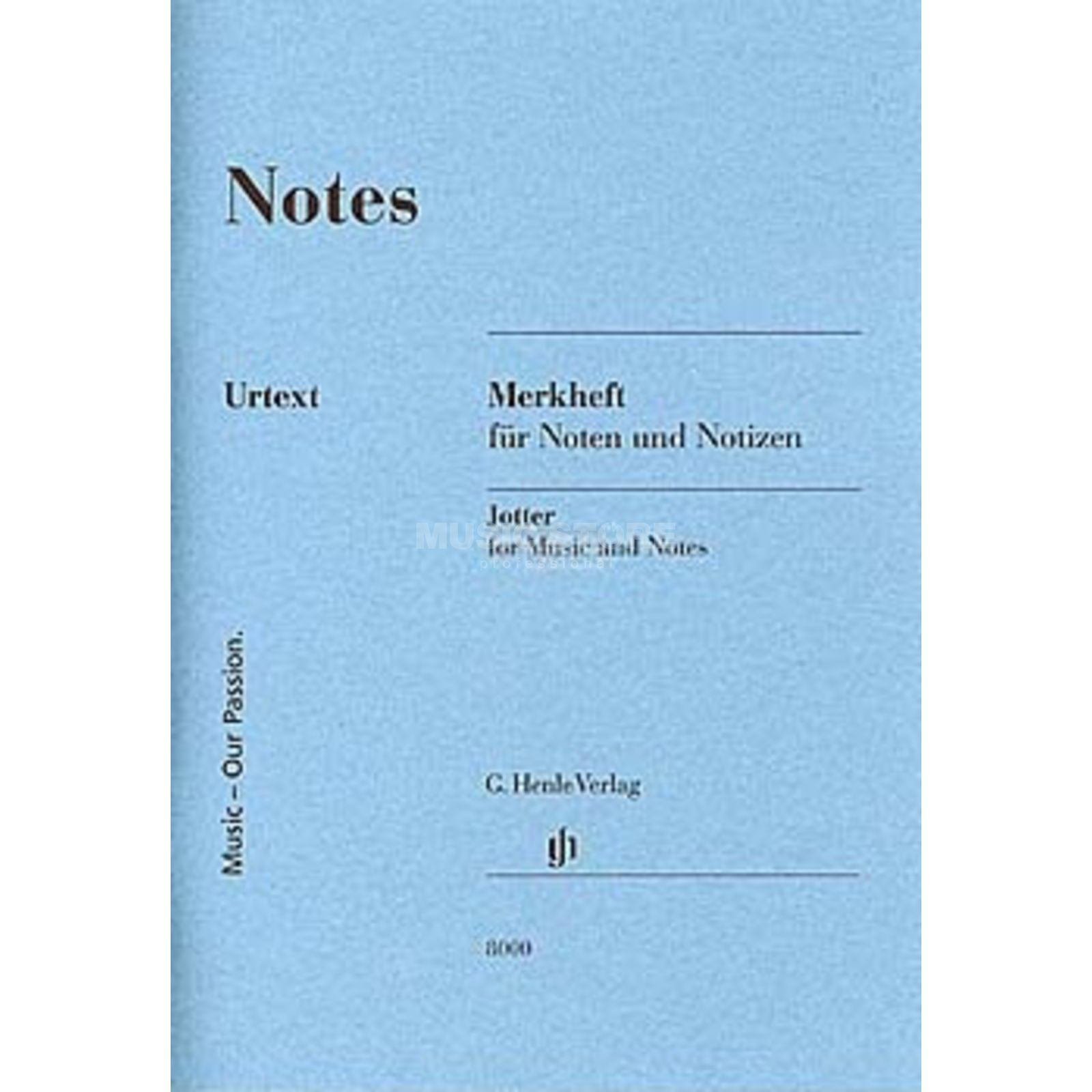 Henle Verlag Notenheft DIN A6 Notes Produktbillede