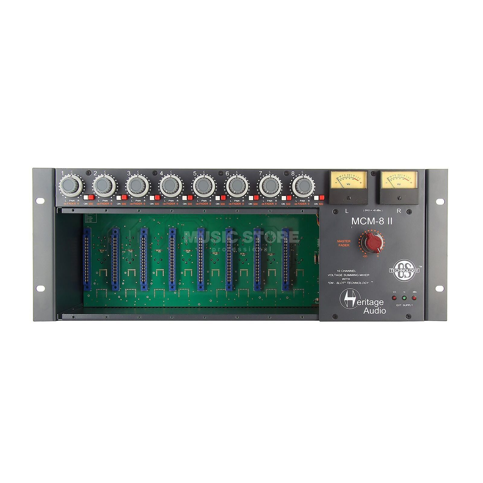 Heritage Audio MCM 8 Summing Rack 8-Slot 500-er, 10-Kanal Mixer Produktbillede
