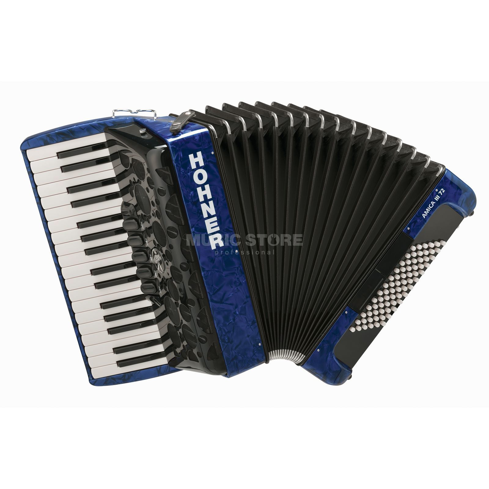 Hohner Accordion Piano Style Amica 72 basses, III choirs, blue Produktbillede