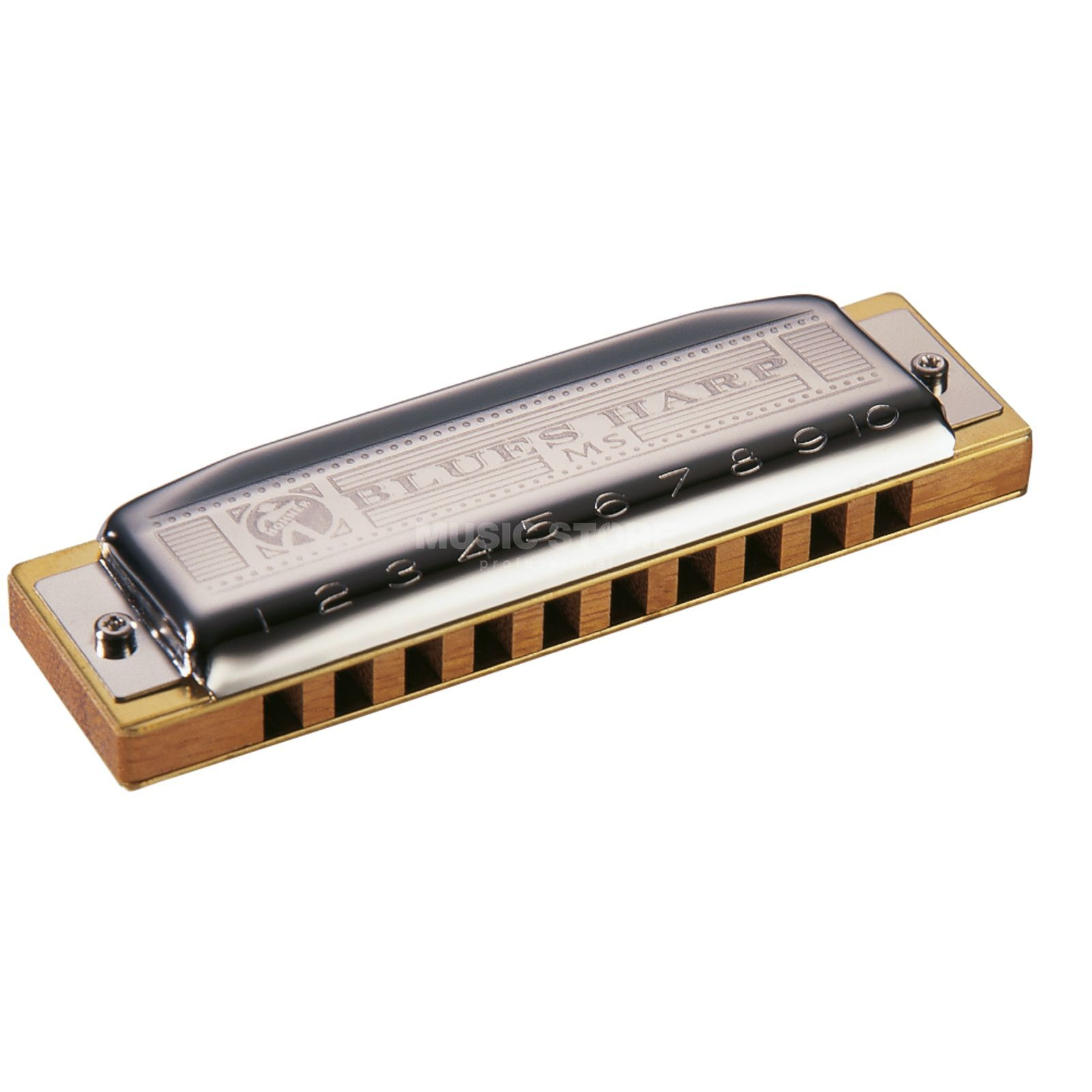 Hohner blauws Harp D MS  Productafbeelding