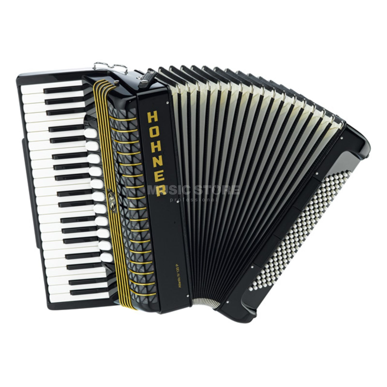 Hohner Piano-Accordion Atlantic 120 bass, IV voices, Black Produktbillede