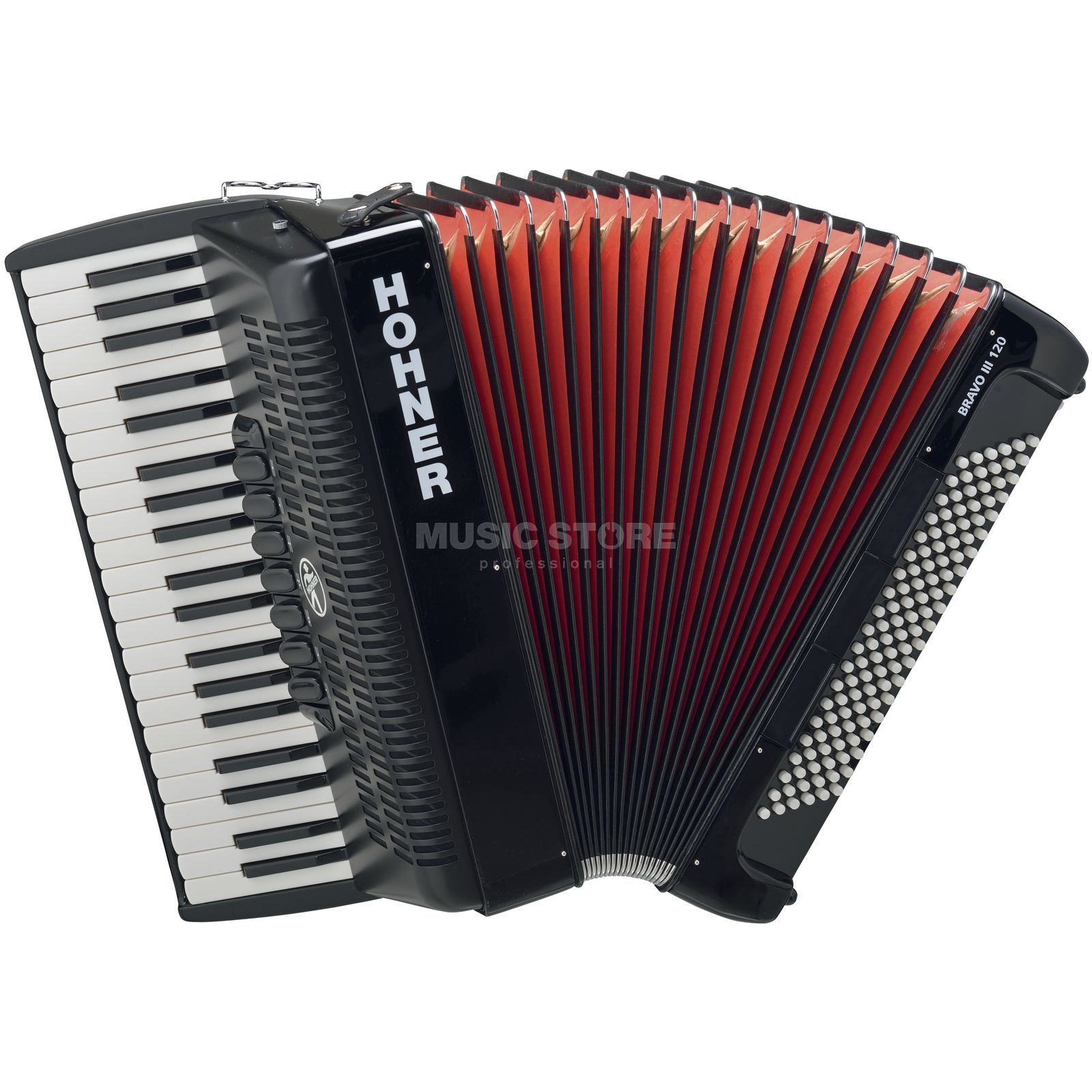 Hohner Piano-Accordion Bravo III 120 black, design 2 Produktbillede