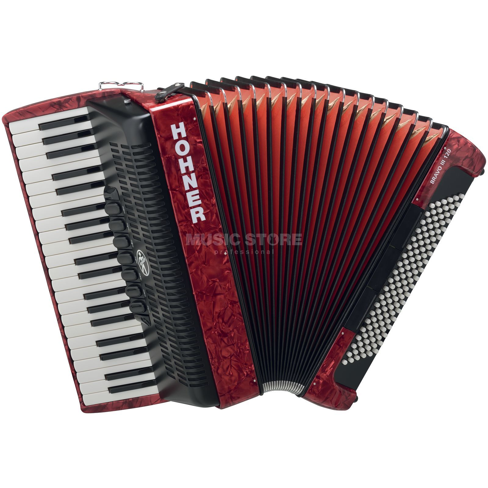 Hohner Piano-Accordion Bravo III 96 red, design 2 Produktbillede