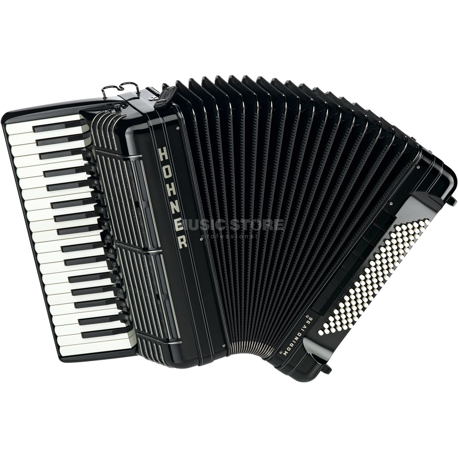 Hohner Piano-Accordion Morino+ 96 bass, IV voices, Black Produktbillede
