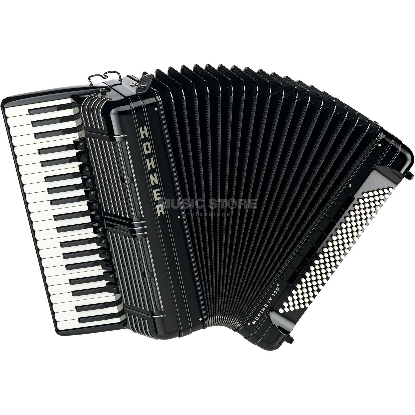 Hohner Piano-Accordion Morino + IV 120 bass, IV voices, Black Produktbillede