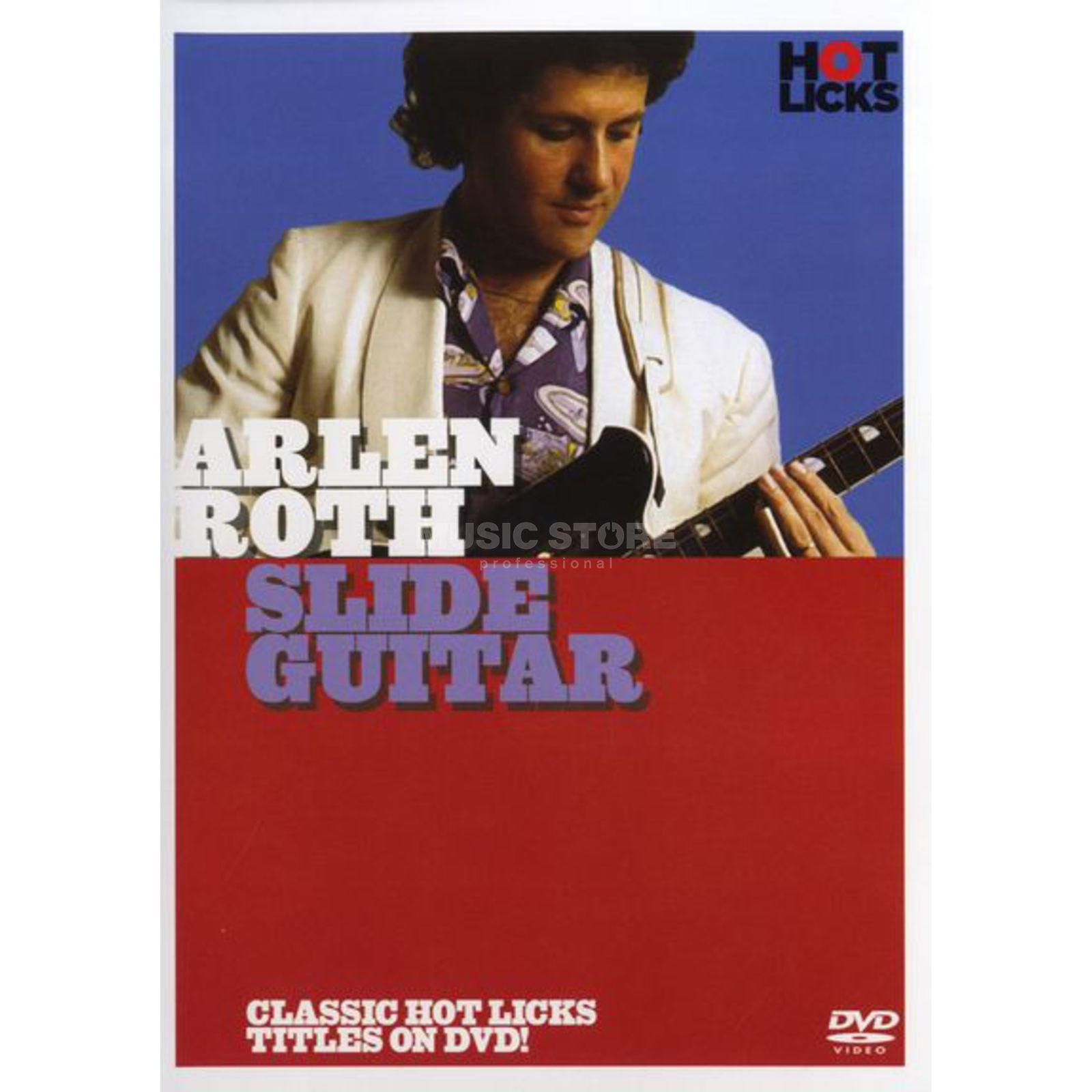 Hotlicks Videos Arlen Roth - Slide Guitar Hot Licks, DVD Produktbillede