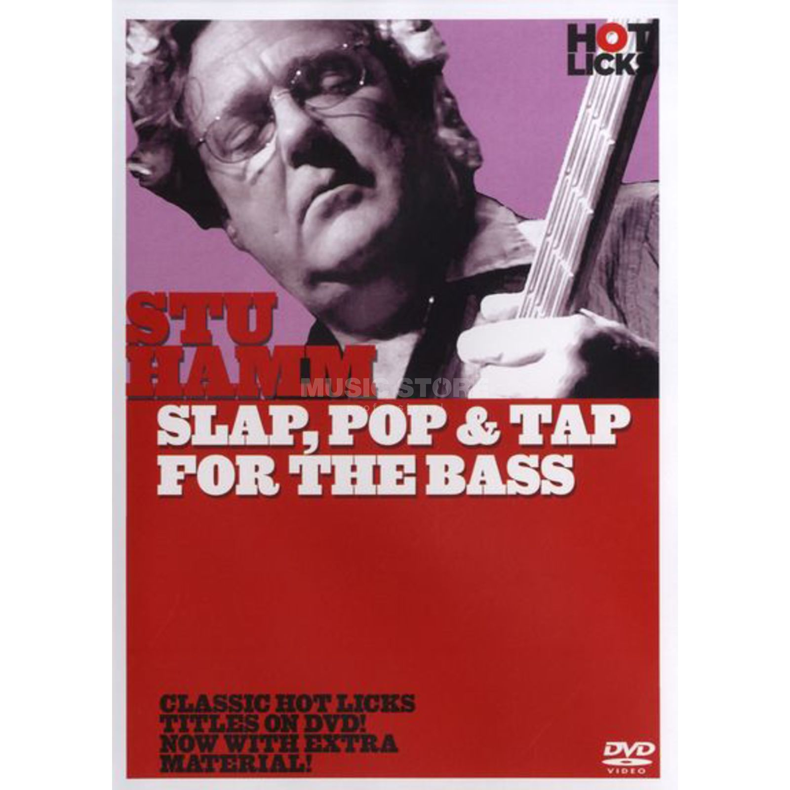 Hotlicks Videos Stu Hamm - Slap, Pop & Tap Hot Licks, DVD Produktbillede