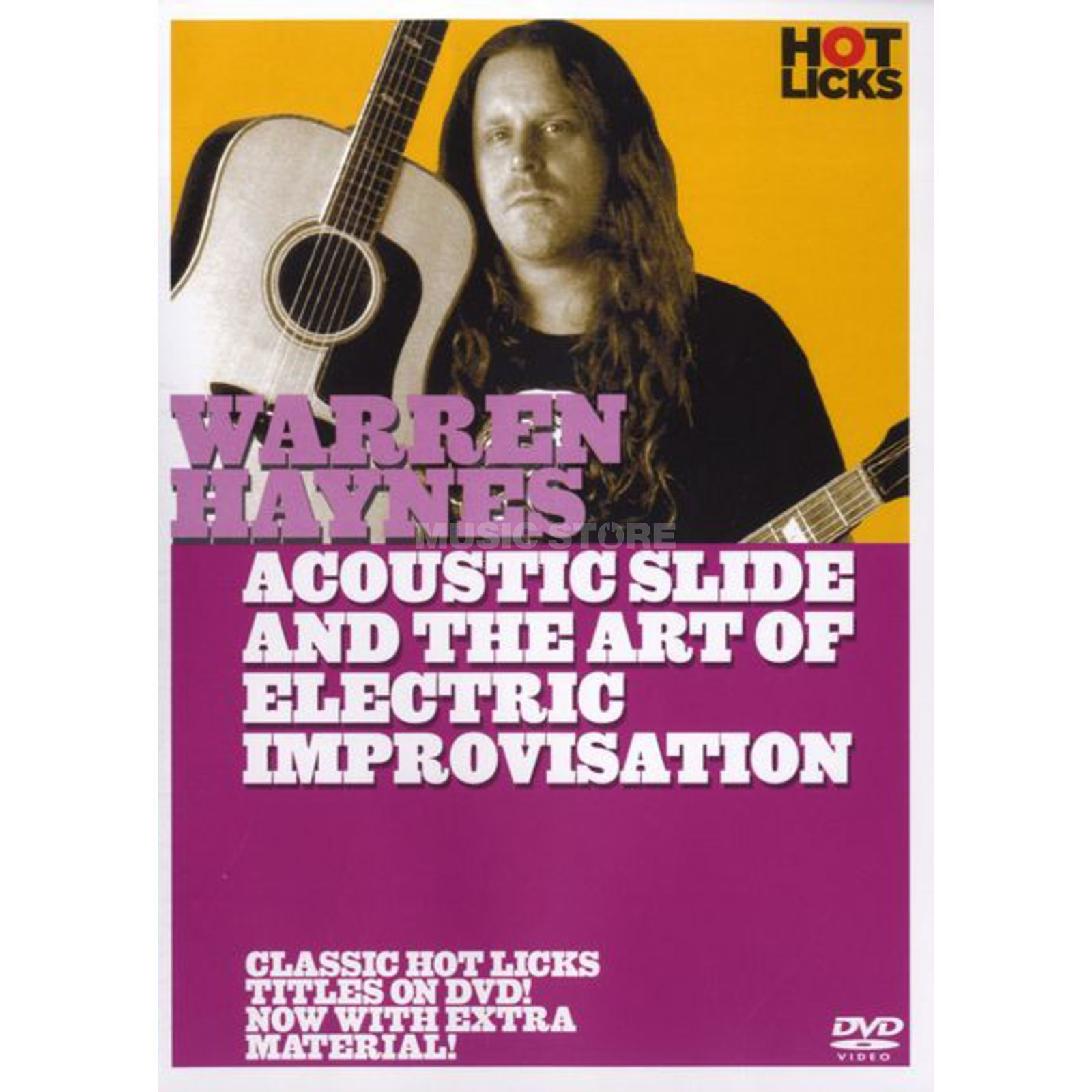 Hotlicks Videos Warren Haynes - Acoustic Slide Hot Licks, DVD Produktbild