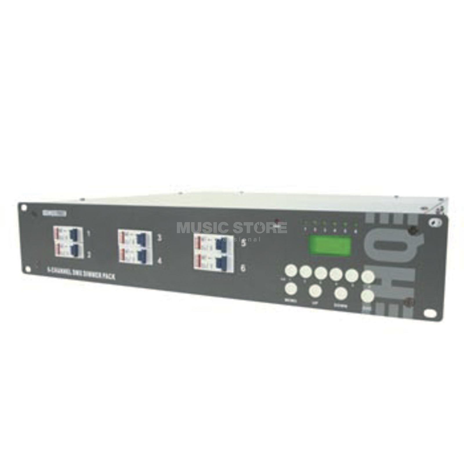 HQ Power 6-Channel DMX-Dimmer Pack / LCD 6x 10A, Schuko-Anschluss Produktbillede